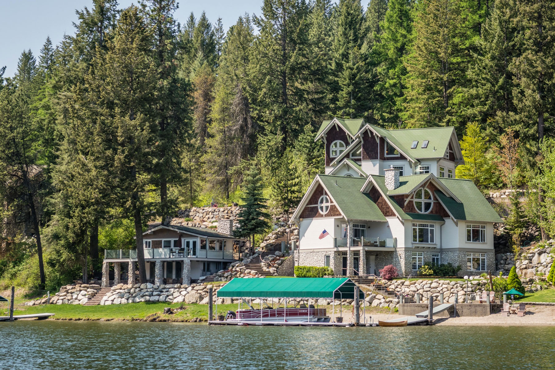 Single Family Home for Sale at Lakefront Estate 3750 S WESTWAY Drive Coeur D Alene, Idaho 83814 United States