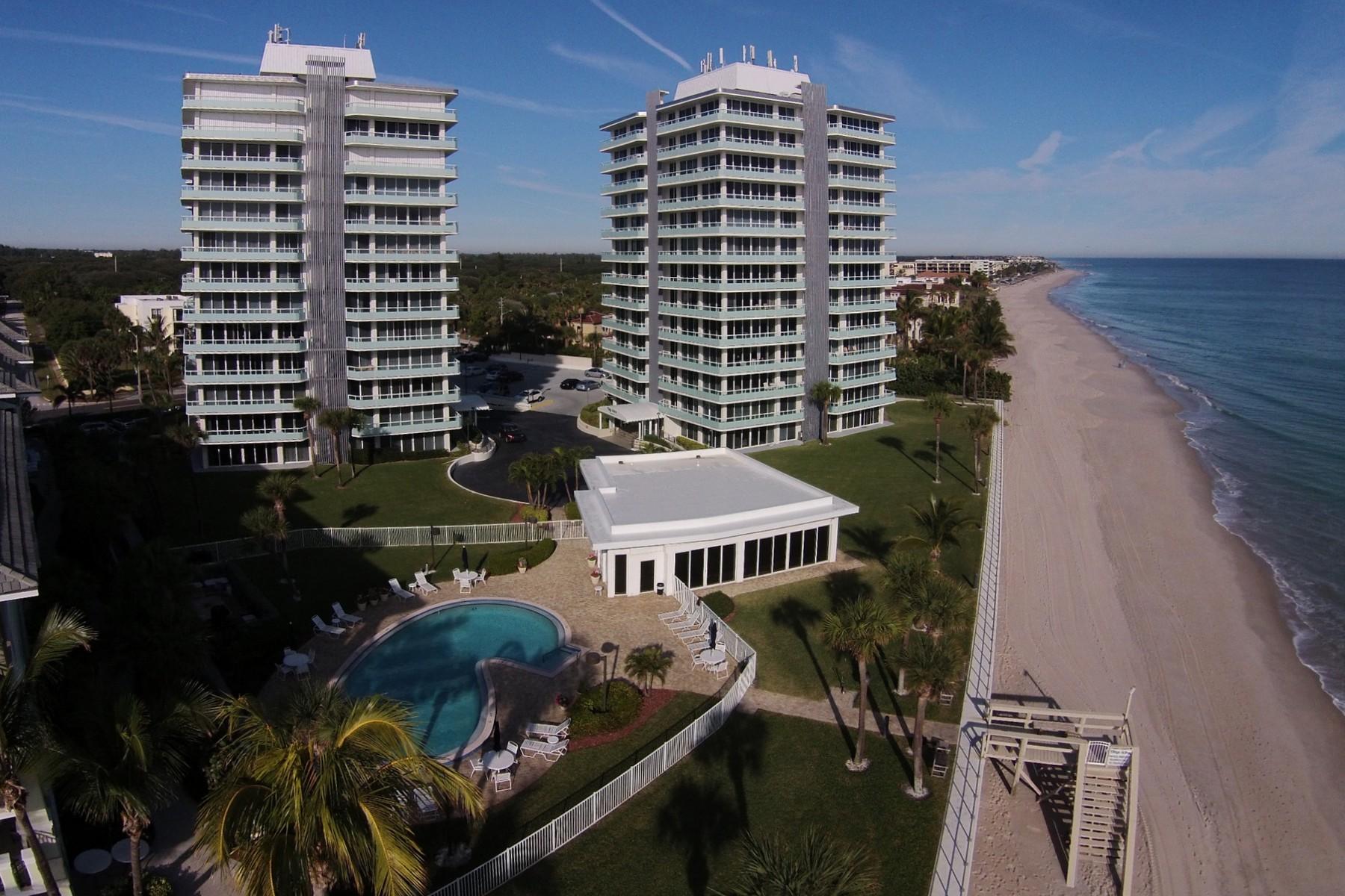 콘도미니엄 용 매매 에 Elegant oceanfront condo 3554 Ocean Drive # 1101 Vero Beach, 플로리다 32963 미국