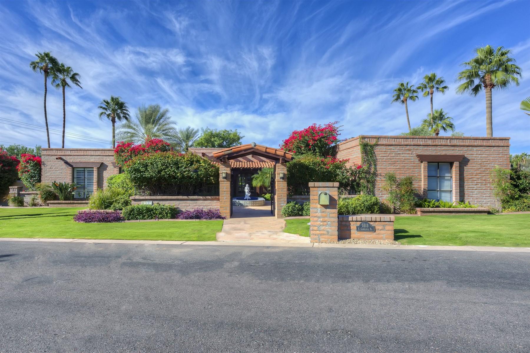 一戸建て のために 売買 アット Super Charming Family Home With Unobstructed Camelback Mountain Views 5515 E Camelhill Rd Phoenix, アリゾナ 85018 アメリカ合衆国