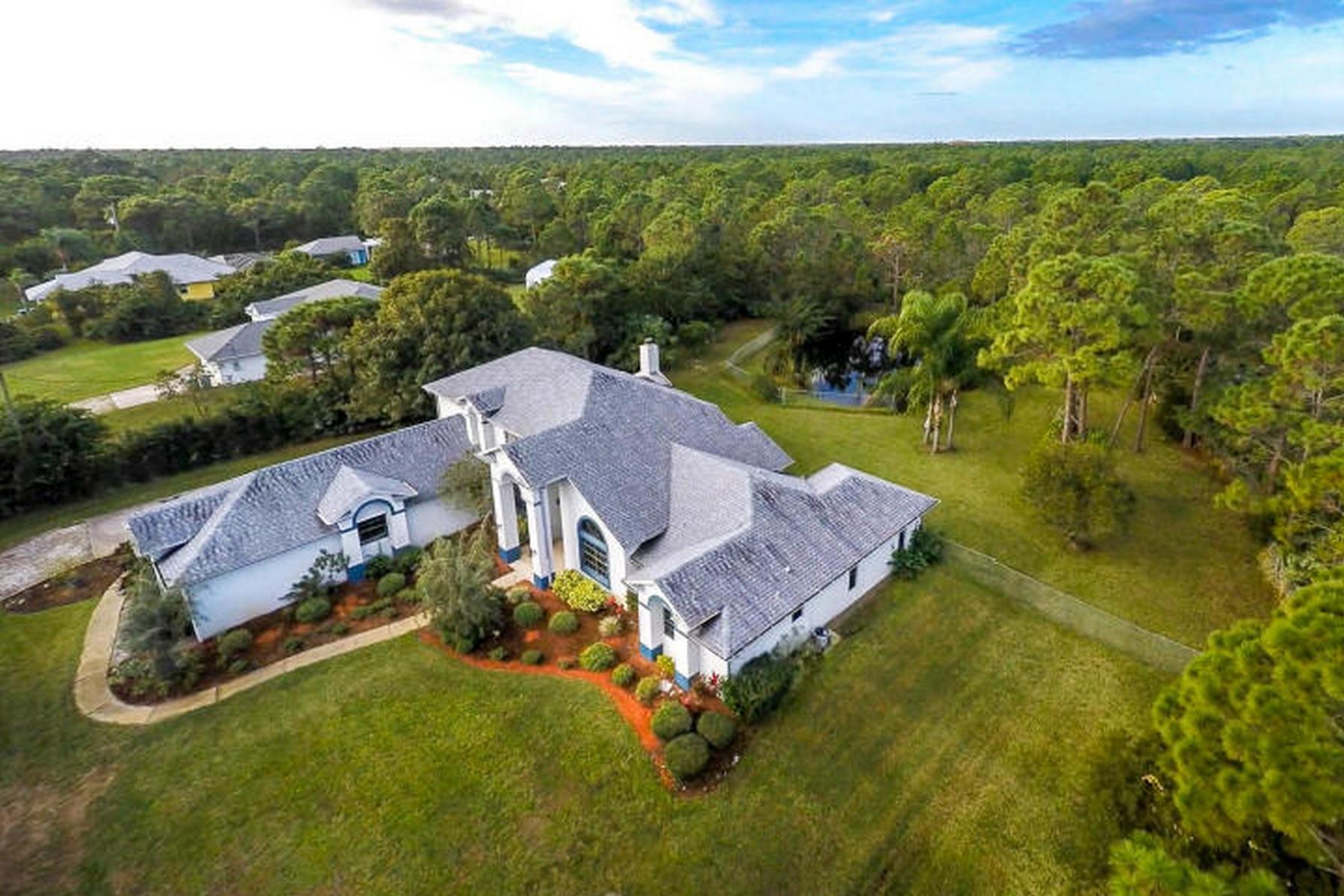 獨棟家庭住宅 為 出售 在 6040 Brabrook Avenue Grant Valkaria, 佛羅里達州, 32949 美國