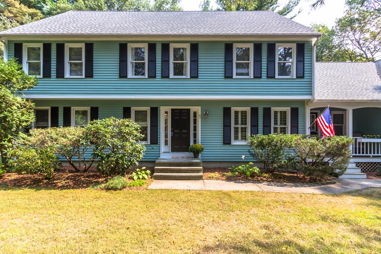 Single Family Home for Sale at Open Floor Plan, Nestled on Wooded Corner Lot 47 School Street Hopkinton, Massachusetts 01748 United States