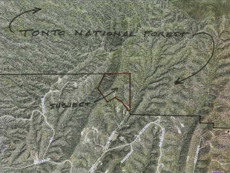 Property Of 41+ Acres - Rare Tonto National Forest Frontage