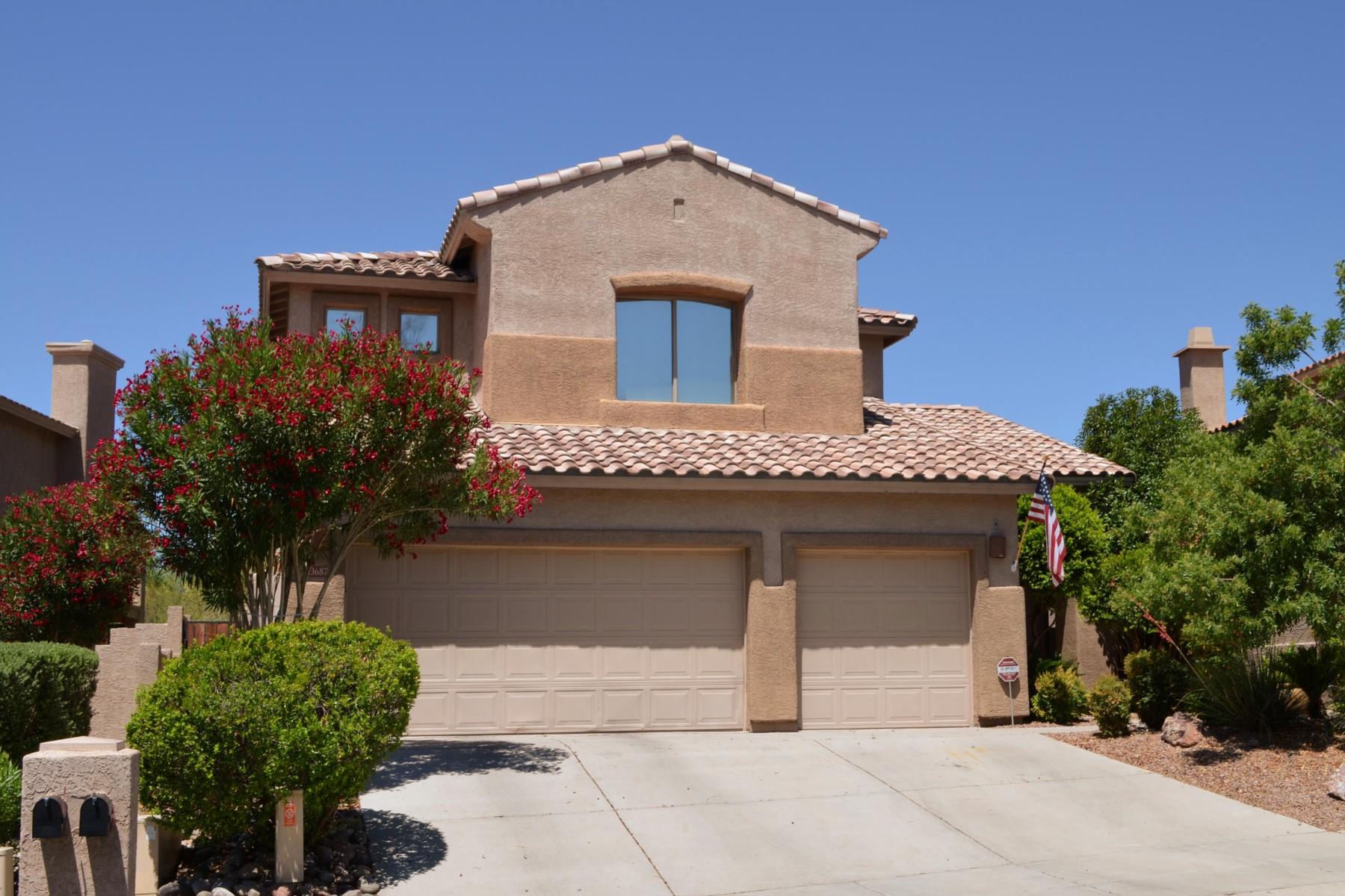 Частный односемейный дом для того Продажа на Beautifully appointed four Bedroom/ three Bath home. 13687 N Bushwacker Place Oro Valley, Аризона 85755 Соединенные Штаты