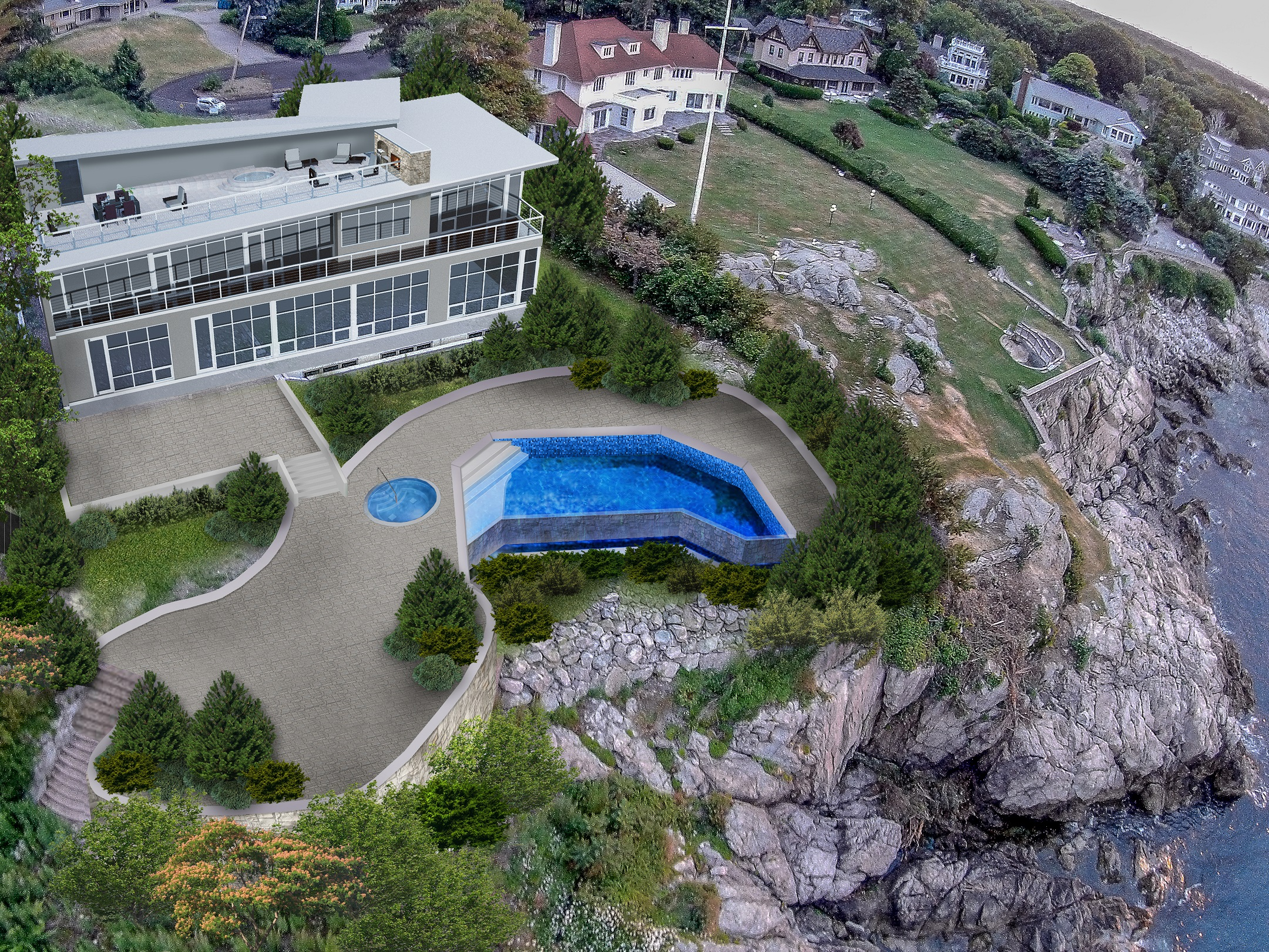 Single Family Home for Sale at Extraordinary Oceanfront Living 60 Tupelo Road Swampscott, Massachusetts 01907 United States