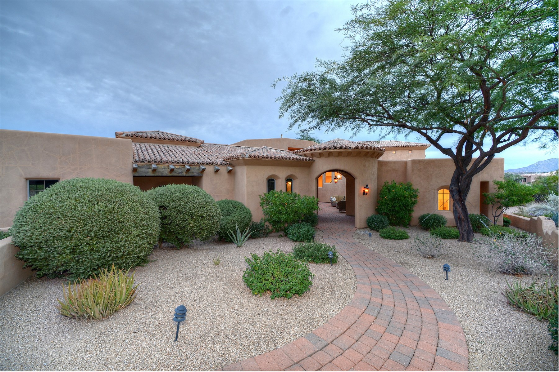 Single Family Home for Sale at Beautiful five bedroom, five bathroom Tuscan residence 10689 E Blue Sky Dr Scottsdale, Arizona, 85262 United States