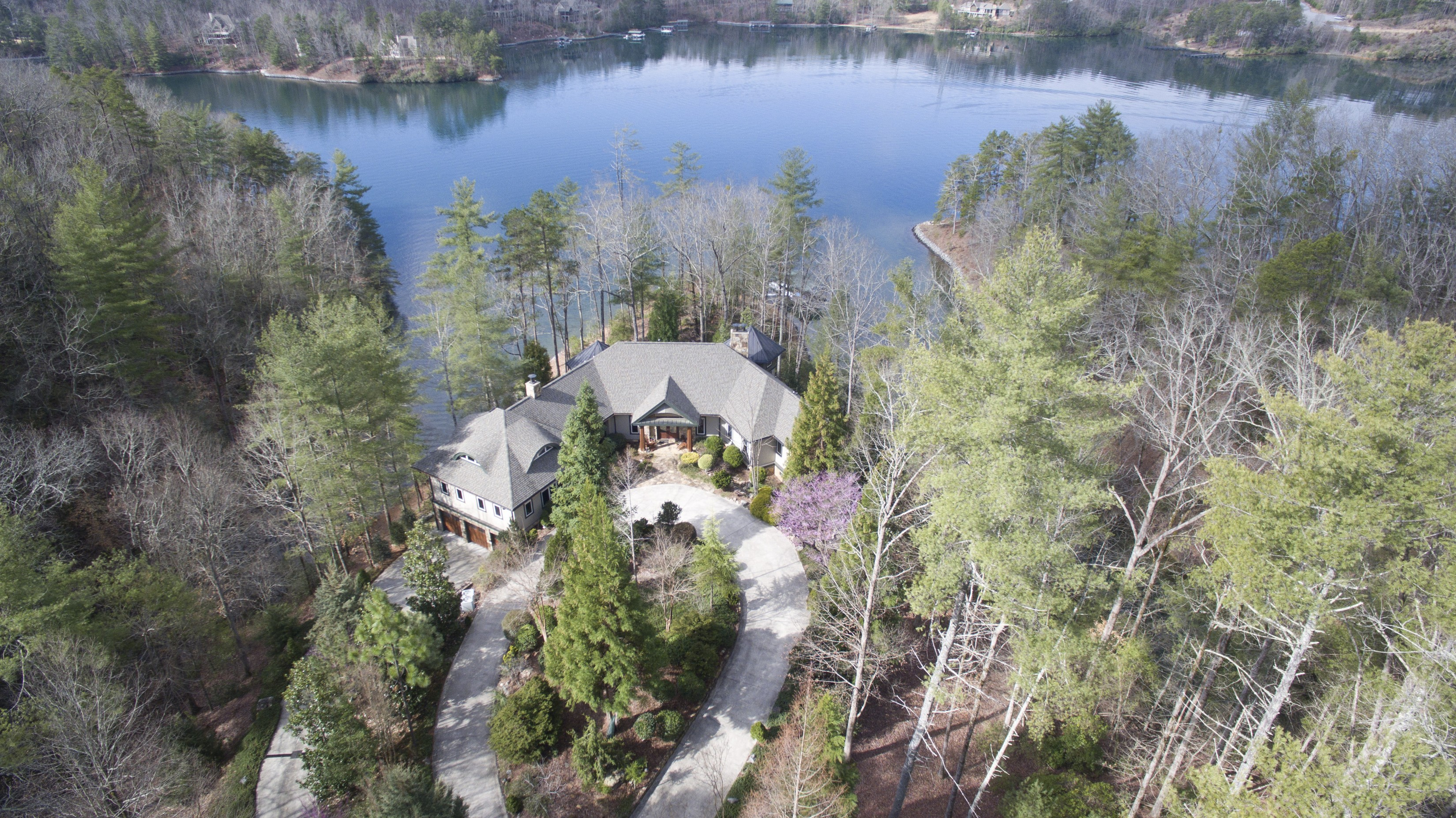 Single Family Home for Sale at Naturally Romantic Lakeside Showpiece on 19.54 acre Waterfront Peninsula 110 Witch Hazel Trail The Cliffs At Keowee Vineyards, Sunset, South Carolina, 29685 United States