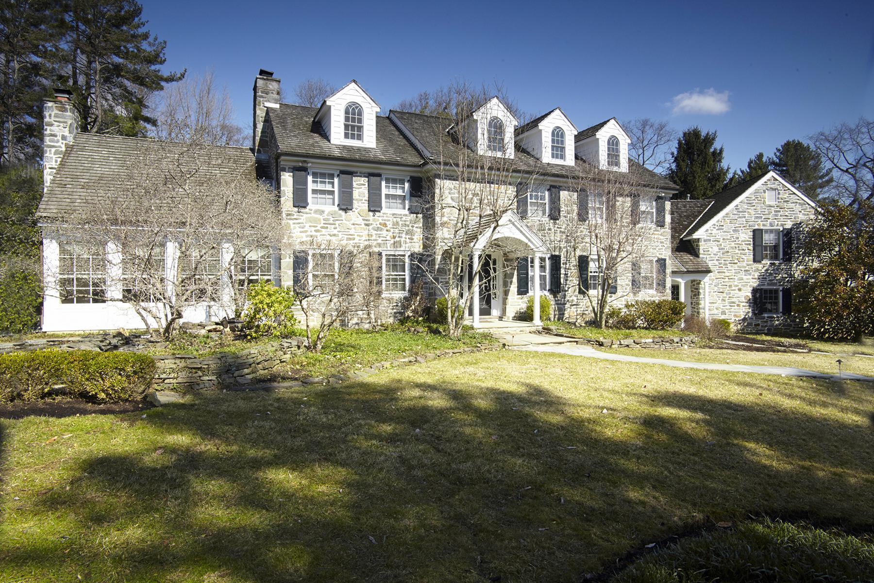 独户住宅 为 销售 在 Main Line Masterpiece 500 Mulberry Lane Haverford Haverford, 宾夕法尼亚州 19041 美国