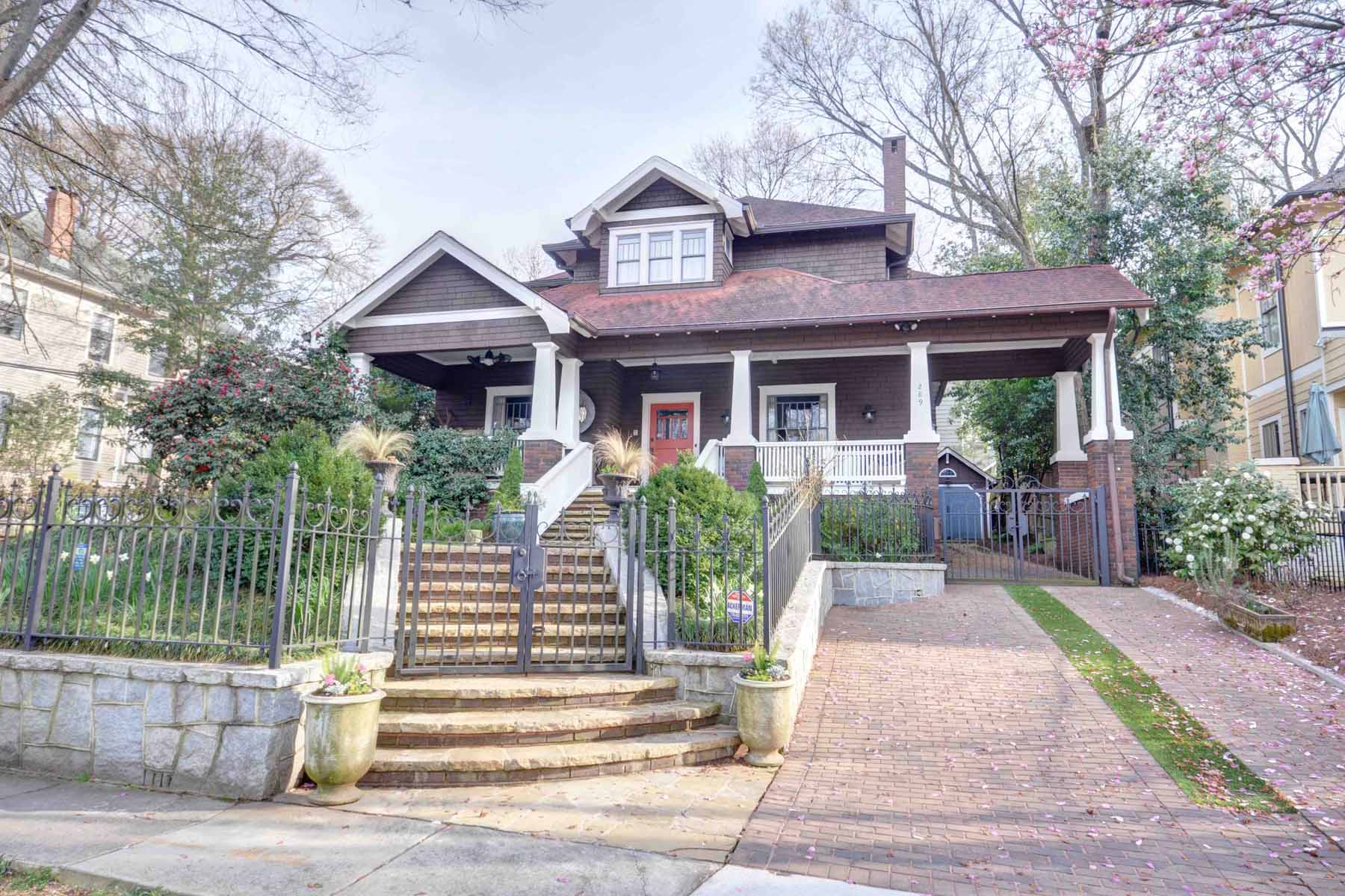 Частный односемейный дом для того Продажа на Completely Renovated Classic Midtown Home on a Premier Street. 289 9th Street NE Midtown, Atlanta, Джорджия, 30309 Соединенные Штаты