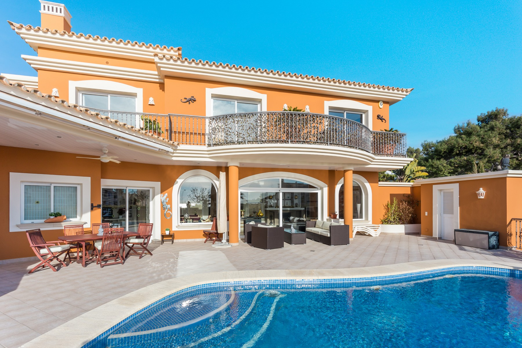 Single Family Home for Sale at Mediterranean villa with views in Nova Santa Ponsa Santa Ponsa, Mallorca, 07180 Spain
