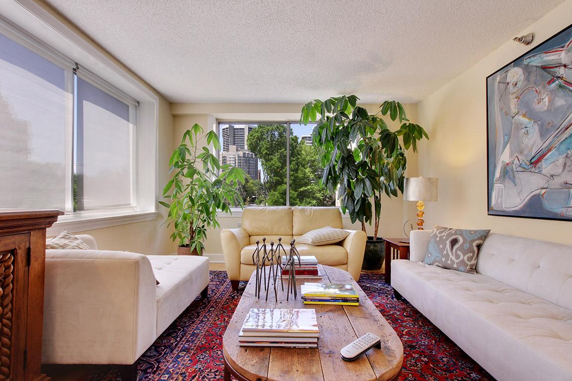 Condominium for Sale at Light-filled Corner Unit 2479 Peachtree Road NE #416 Atlanta, Georgia 30305 United States