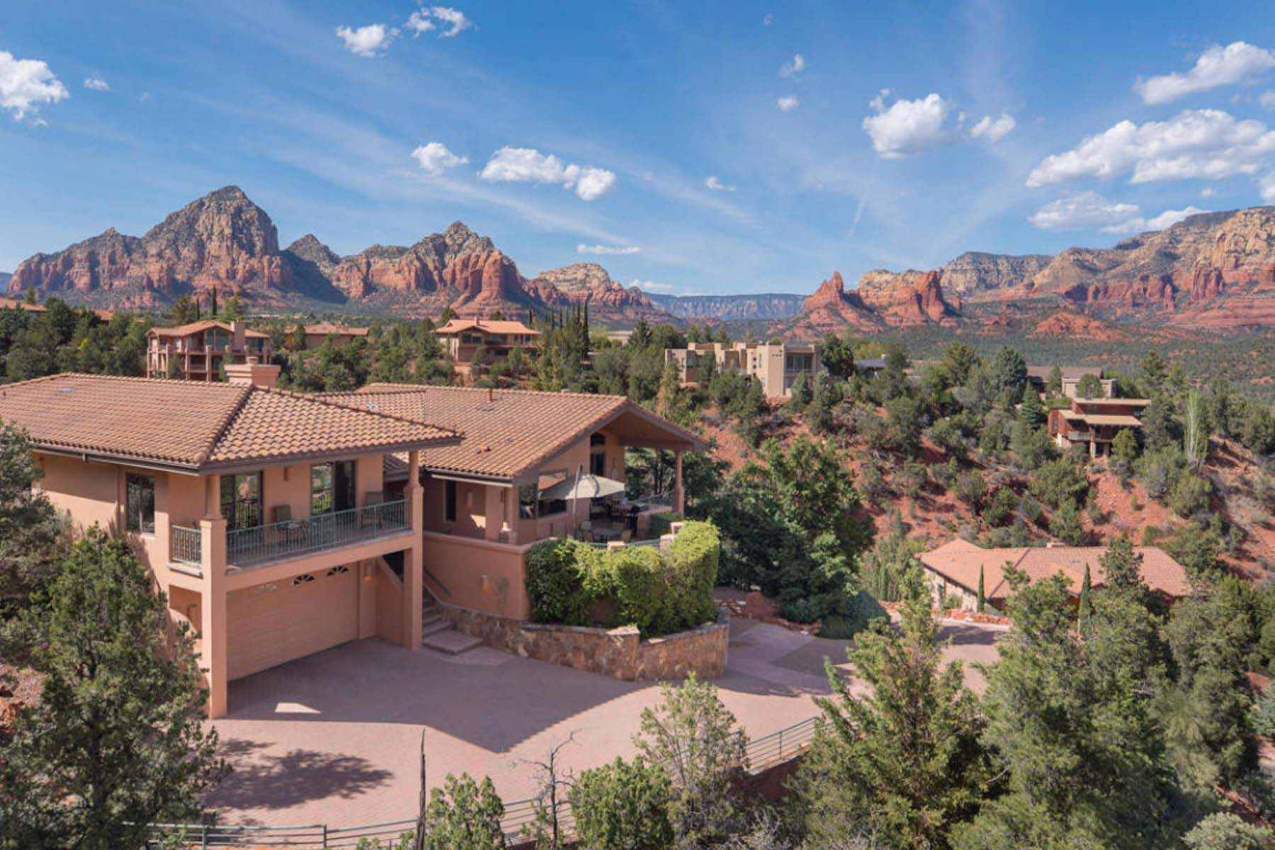 獨棟家庭住宅 為 出售 在 A jaw-dropping setting as high up as one can be in Les Springs. 120 Les Springs Drive Sedona, 亞利桑那州 86336 美國