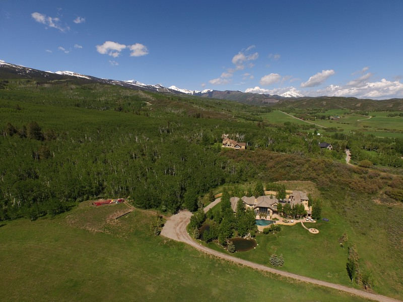 Single Family Home for Sale at Exclusive Owl Creek - 18,000 Sq Ft Estate - Location, Location, Location 170 Clay Lane West Aspen, Aspen, Colorado 81611 United States