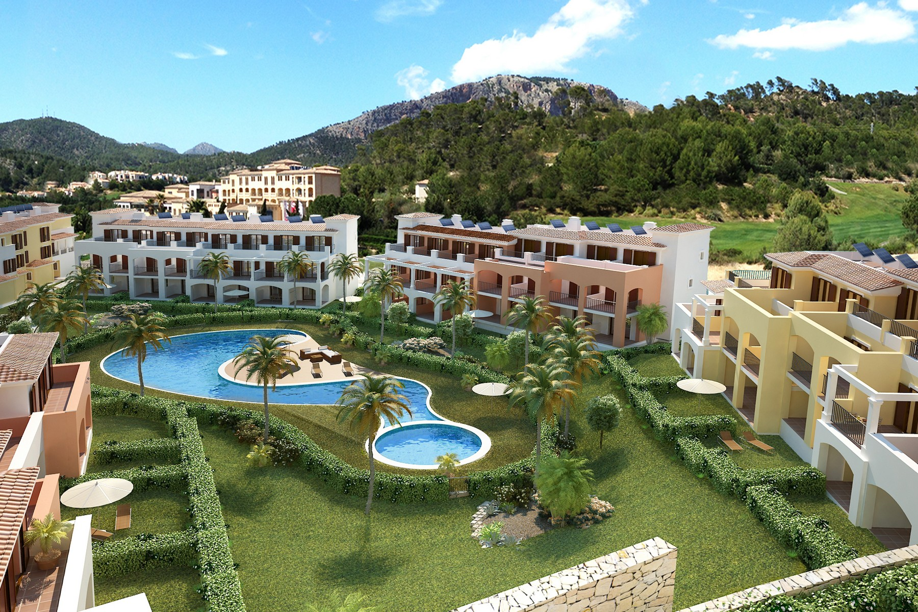 Condominio por un Venta en New townhouses near the beach in Camp de Mar Camp De Mar, Mallorca, 07160 España