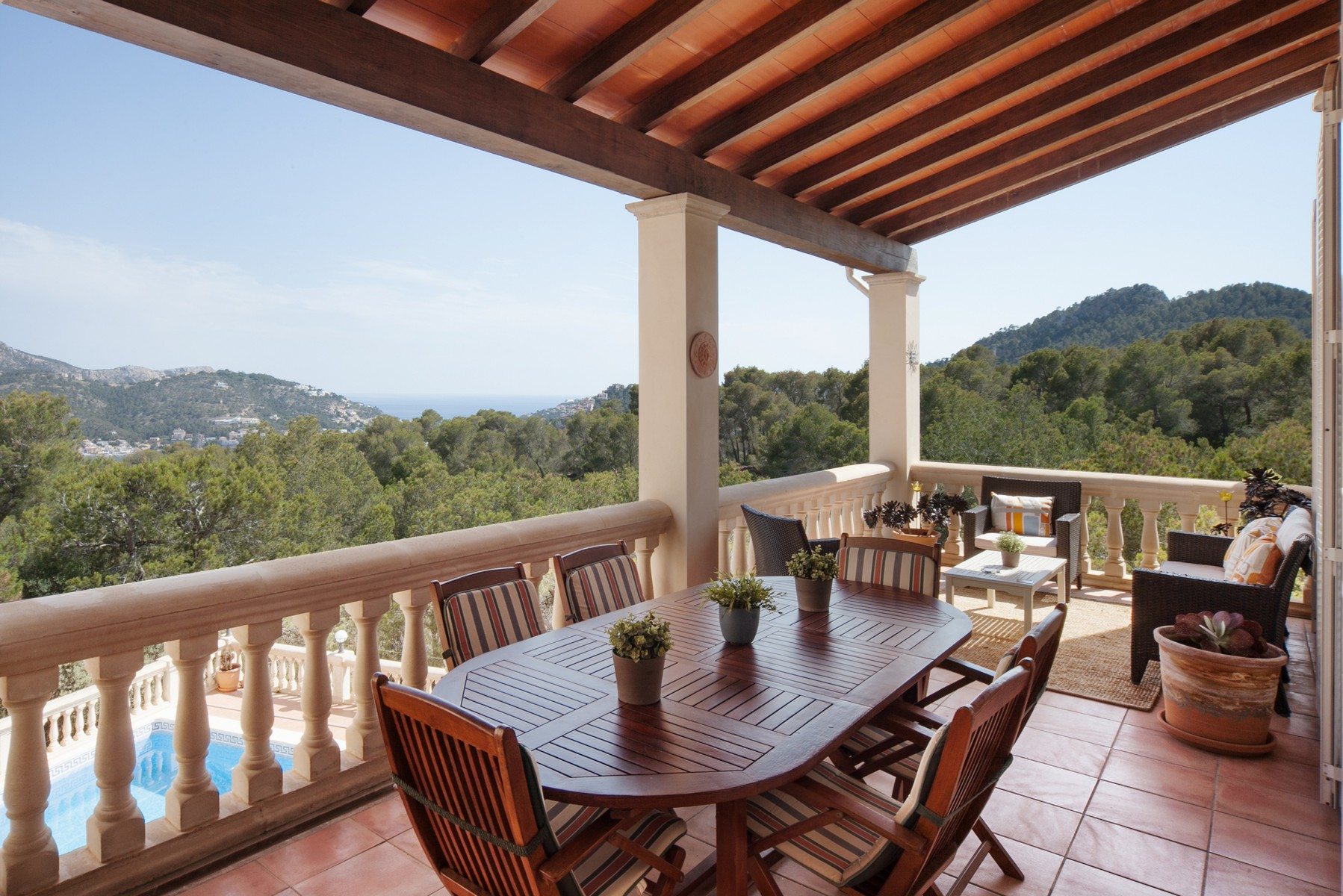 Single Family Home for Sale at Spacious villa with sea views in Mon Port Port Andratx, Mallorca, 07157 Spain