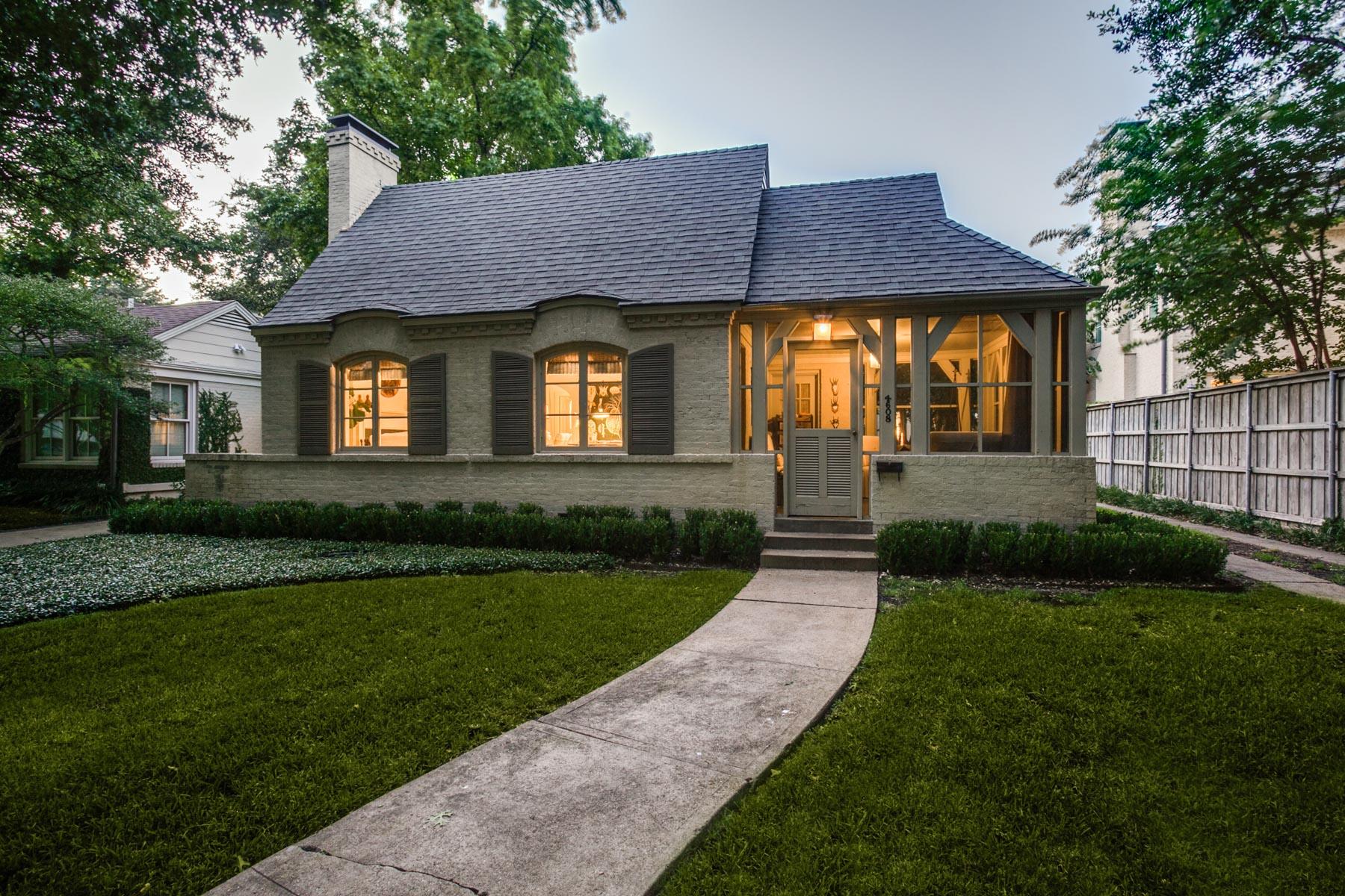 Tek Ailelik Ev için Satış at West Highland Park Traditional 4608 Livingston Avenue Dallas, Teksas, 75209 Amerika Birleşik Devletleri