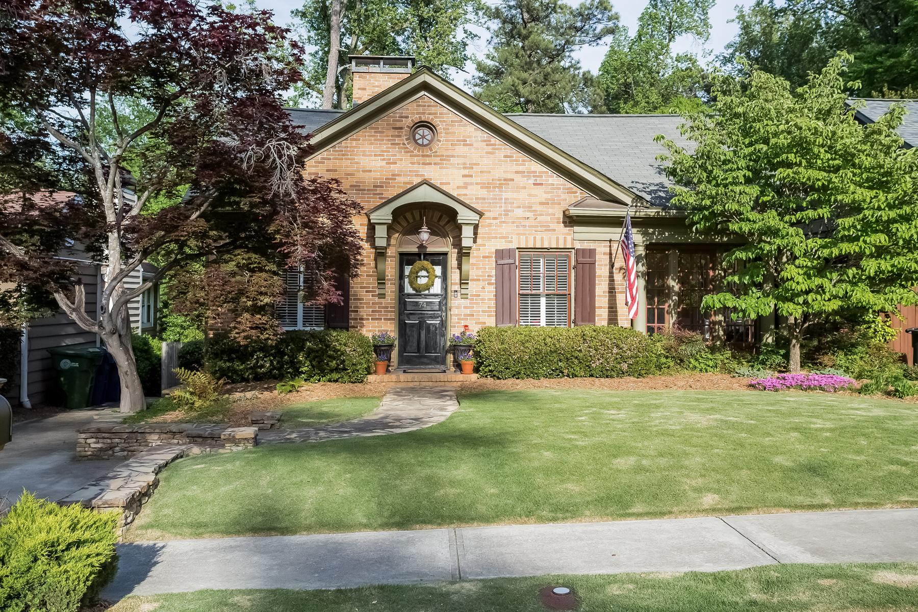 Частный односемейный дом для того Продажа на Charming Buckhead Bungalow 74 Park Circle NE Peachtree Park, Atlanta, Джорджия, 30305 Соединенные Штаты