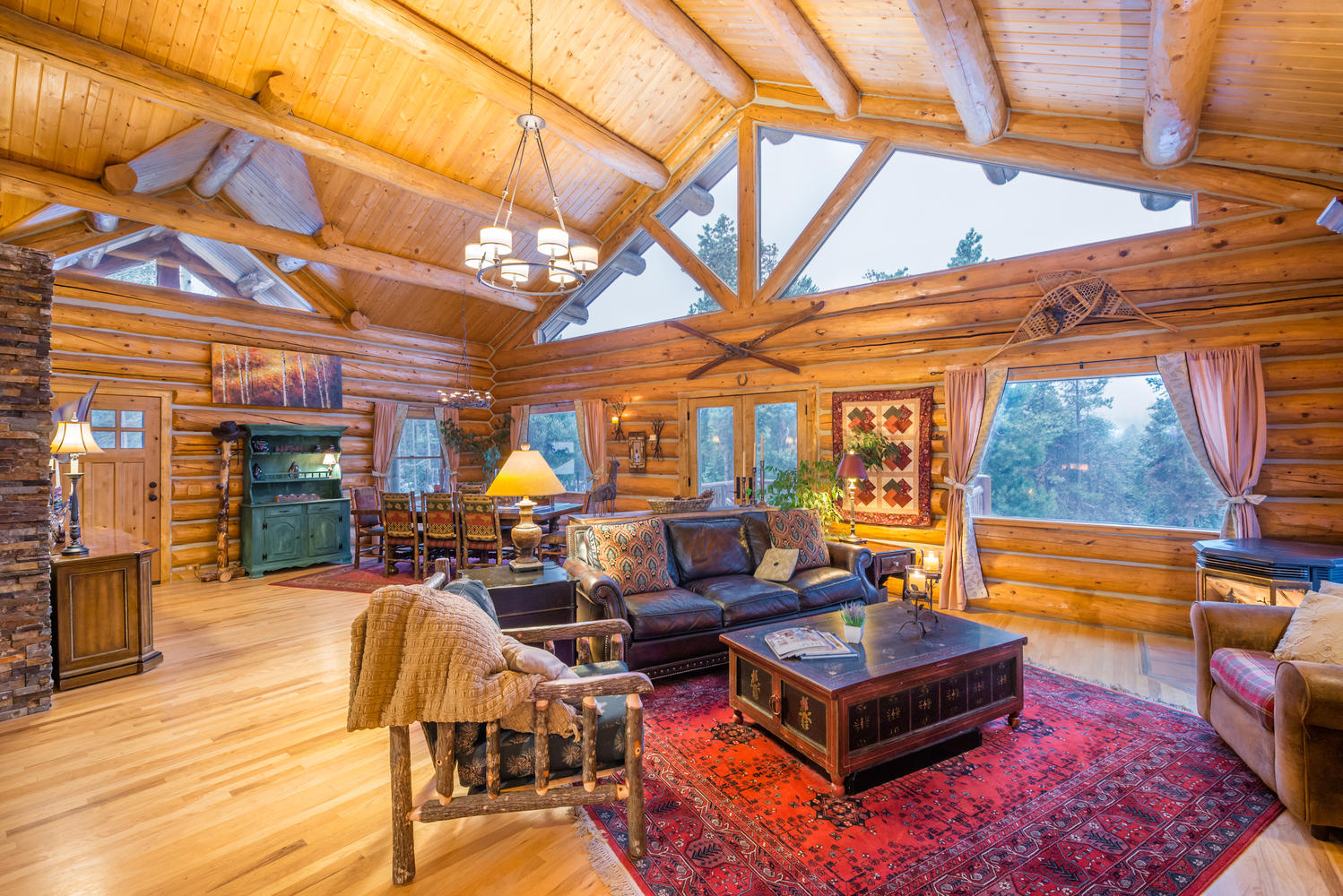 sales property at Completely Updated, True Hand-Hewn Log Home