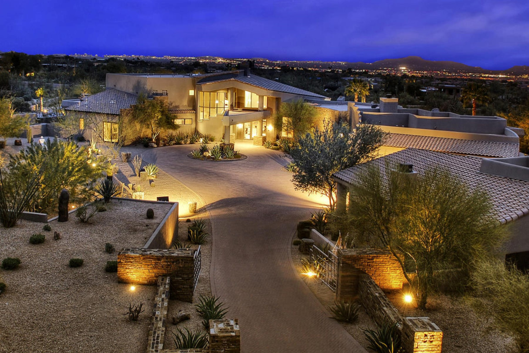 sales property at Private and 4.39 acre contemporary desert estate
