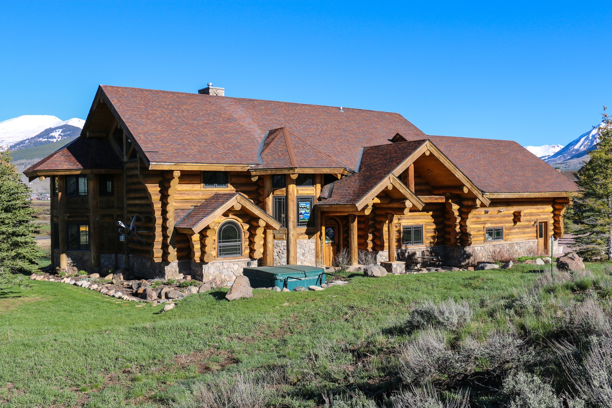 Single Family Home for Sale at Luxury Log Home 163 E Silver Sage Dr Crested Butte, Colorado 81224 United States