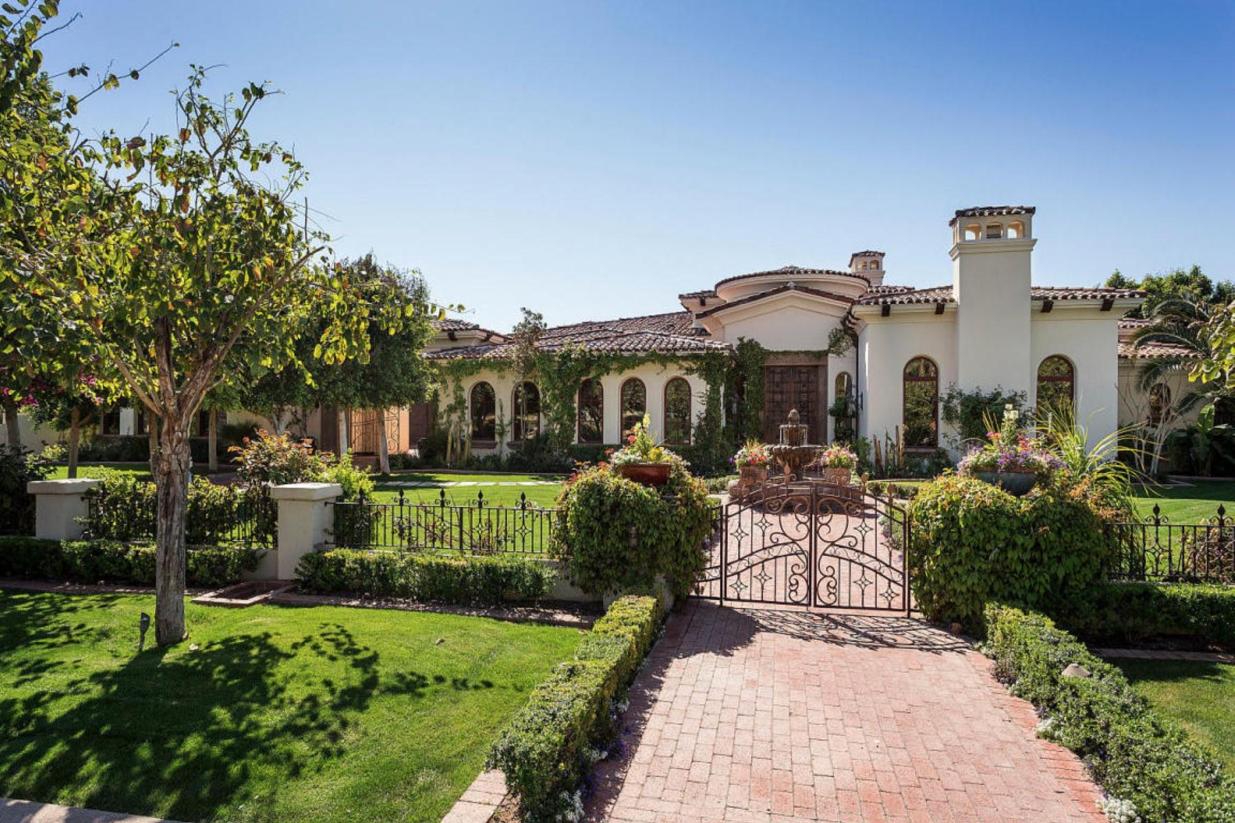 一戸建て のために 売買 アット Spectacular Mediterranean Estate set on one of the best streets in all of Arcadi 6215 E Exeter BLVD Scottsdale, アリゾナ 85251 アメリカ合衆国