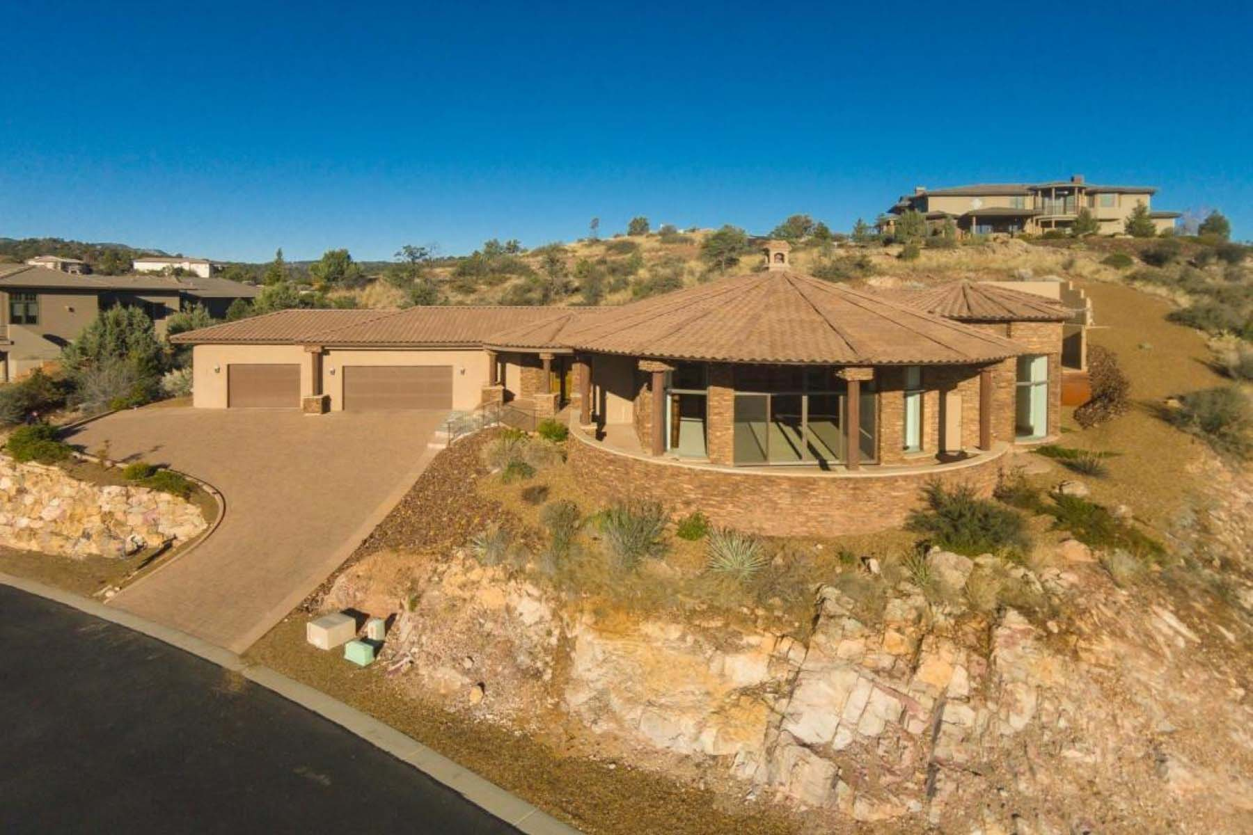 Single Family Home for Sale at 2008 custom home with dramatic 180+ degree views. 1434 Tallside Prescott, Arizona 86305 United States
