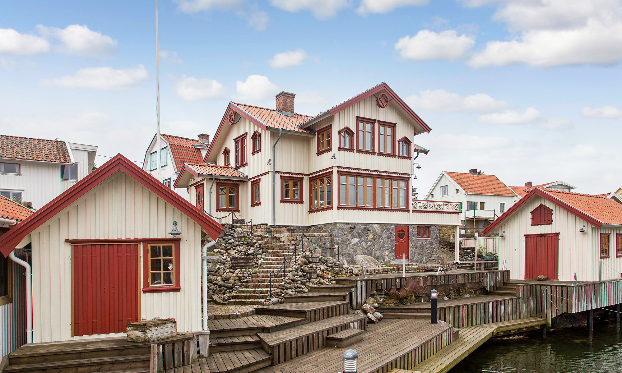 Einfamilienhaus für Verkauf beim A dream property with a private harbour and a large pier and deck Härön Hunnepallen 171 Other Vastra Gotaland, Vastra Gotaland 47190 Schweden