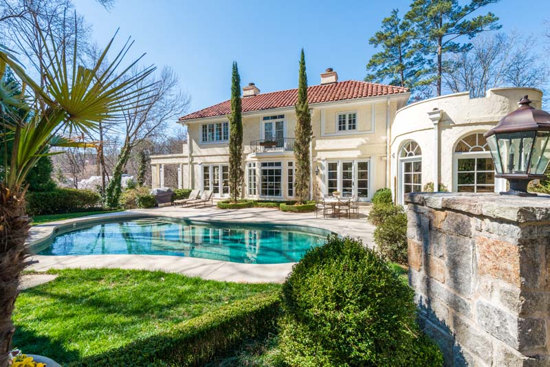 Single Family Home for Sale at Stunning Mediterranean Style Home In Tuxedo Park 3571 Tuxedo Park NW Buckhead, Atlanta, Georgia, 30305 United States