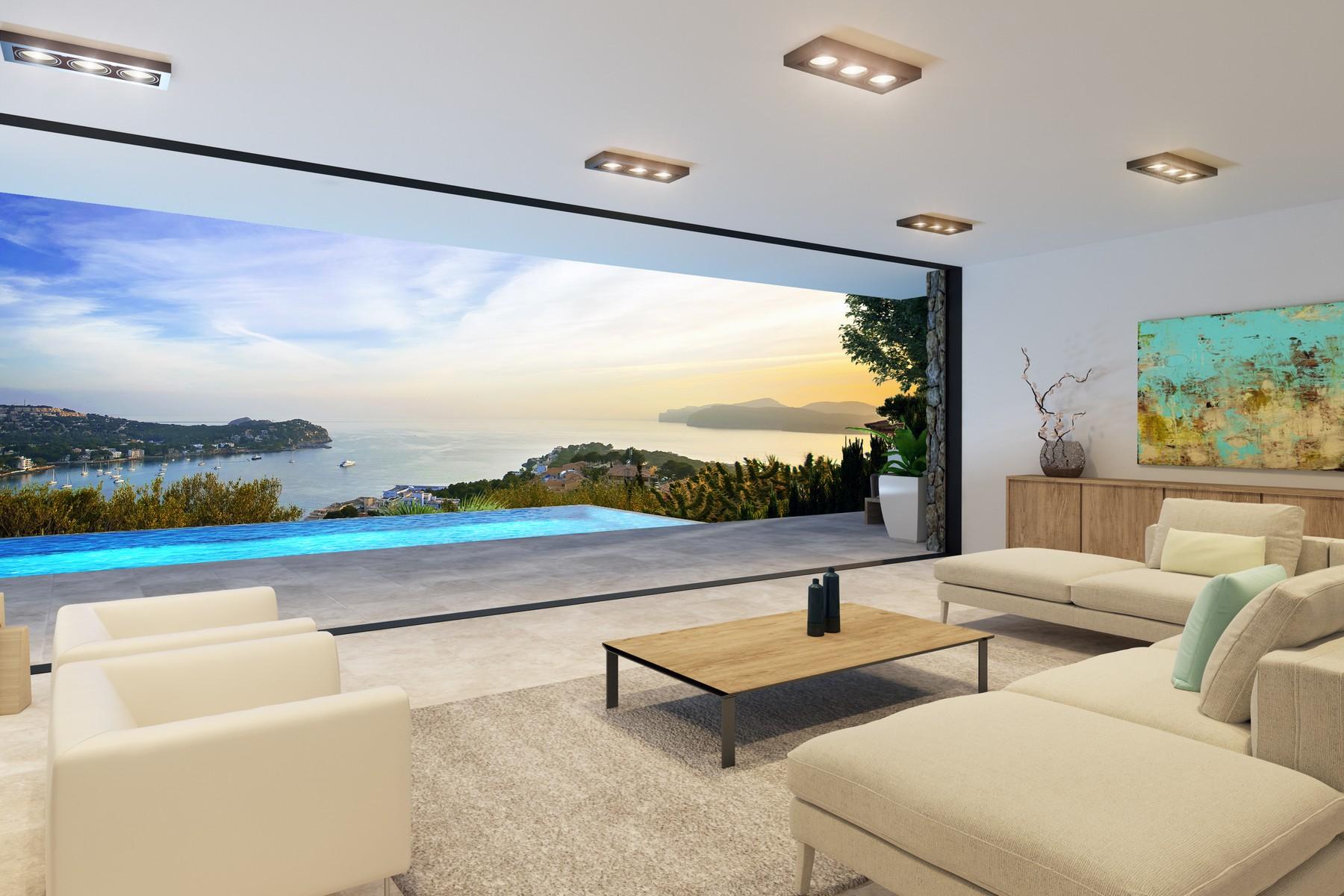 独户住宅 为 销售 在 Modern Villa in Costa de la Calma 圣庞沙, 马洛卡, 07182 西班牙