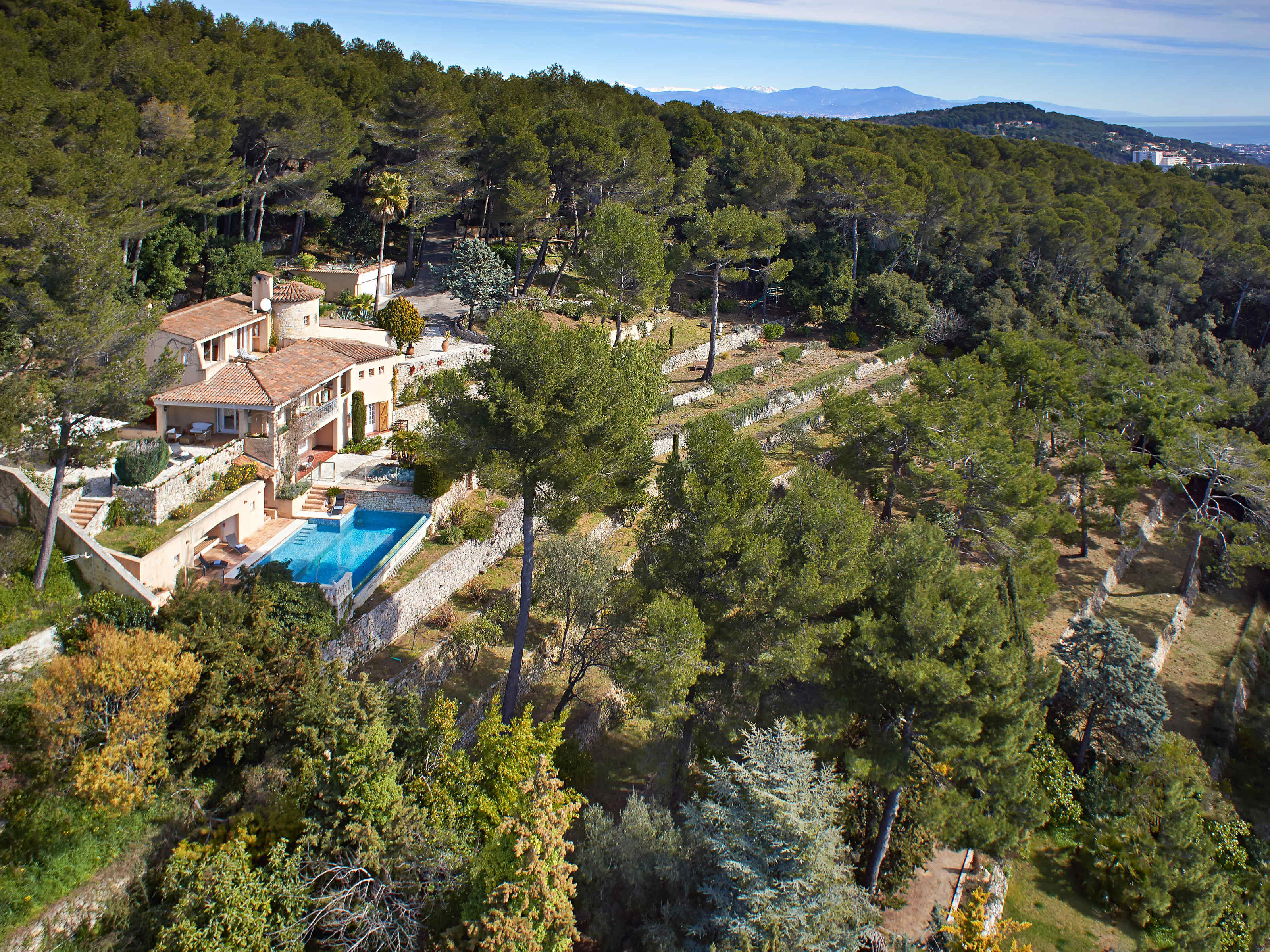 Single Family Home for Sale at Provencal Villa set on 2.5 Hectares with Panoramic Sea Views Cannes, Provence-Alpes-Cote D'Azur 06400 France