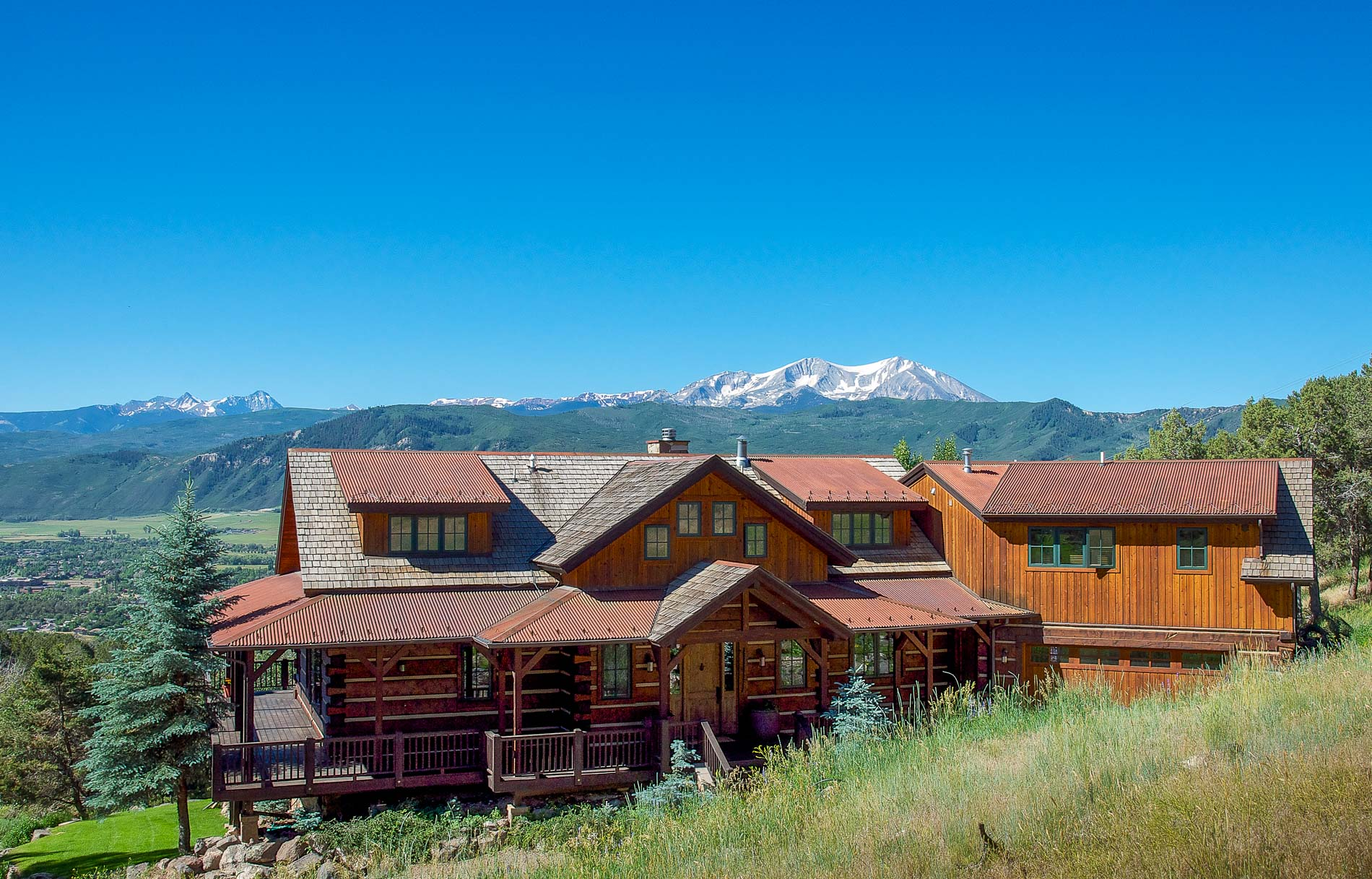 Villa per Vendita alle ore Log home with majestic views 775 Vista Hi Drive Carbondale, Colorado 81623 Stati Uniti