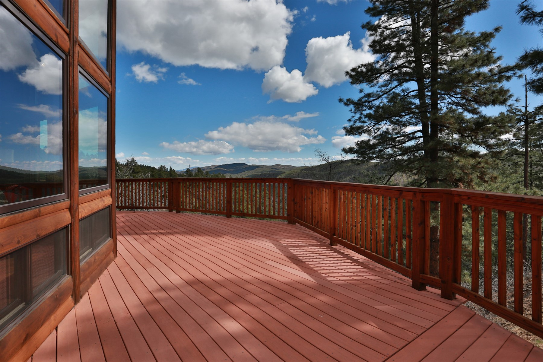 sales property at Breathtaking views from this hillside pine wood home in Walker
