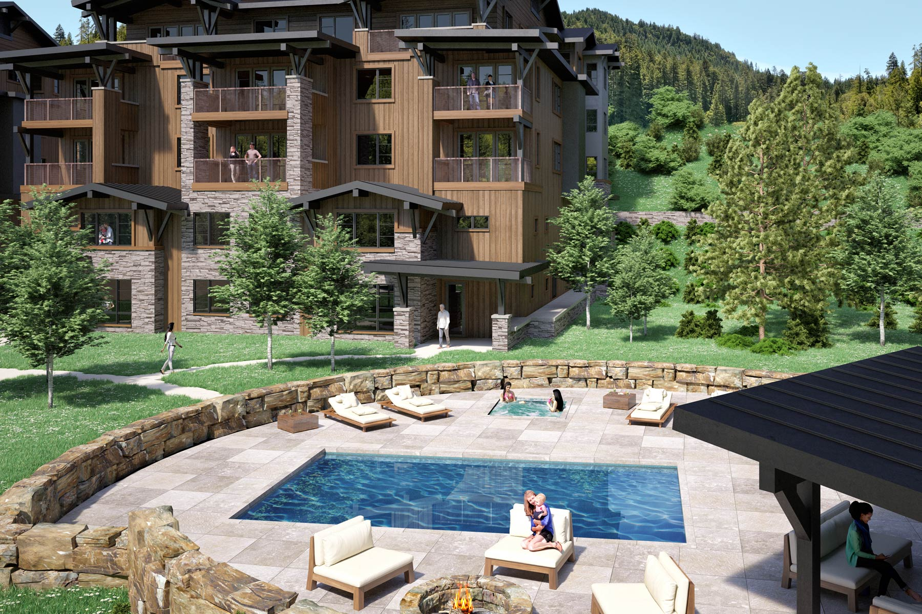 Condominium for Sale at New Construction Mountain Lake Condo 2 Summit View Road Unit 102 Big Sky, Montana 59716 United States