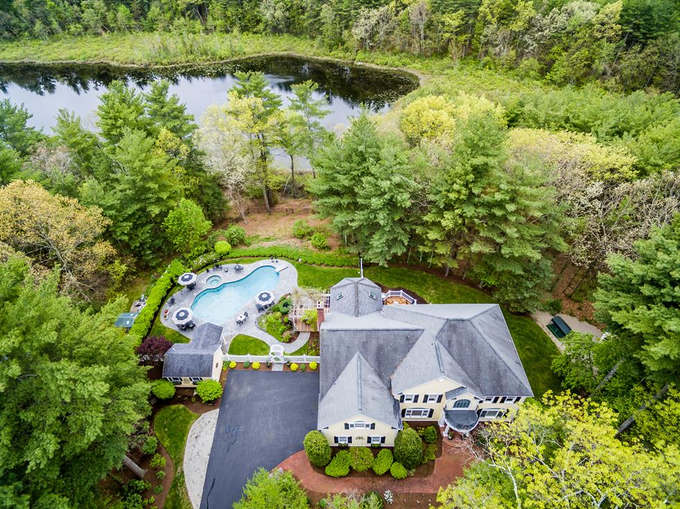 sales property at Hilltop Setting Overlooking Pond