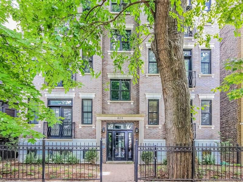 Duplex のために 売買 アット Excellent Condition Wide Floor Plan Duplex 823 W Wolfram Street Unit 1W Lakeview, Chicago, イリノイ 60657 アメリカ合衆国