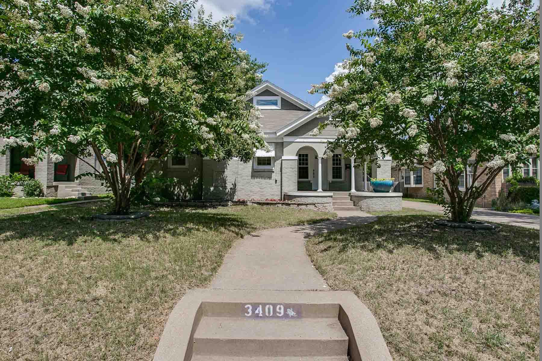 단독 가정 주택 용 매매 에 Bluebonnet Hills, TCU Area 3409 Rogers Avenue Fort Worth, 텍사스, 76109 미국