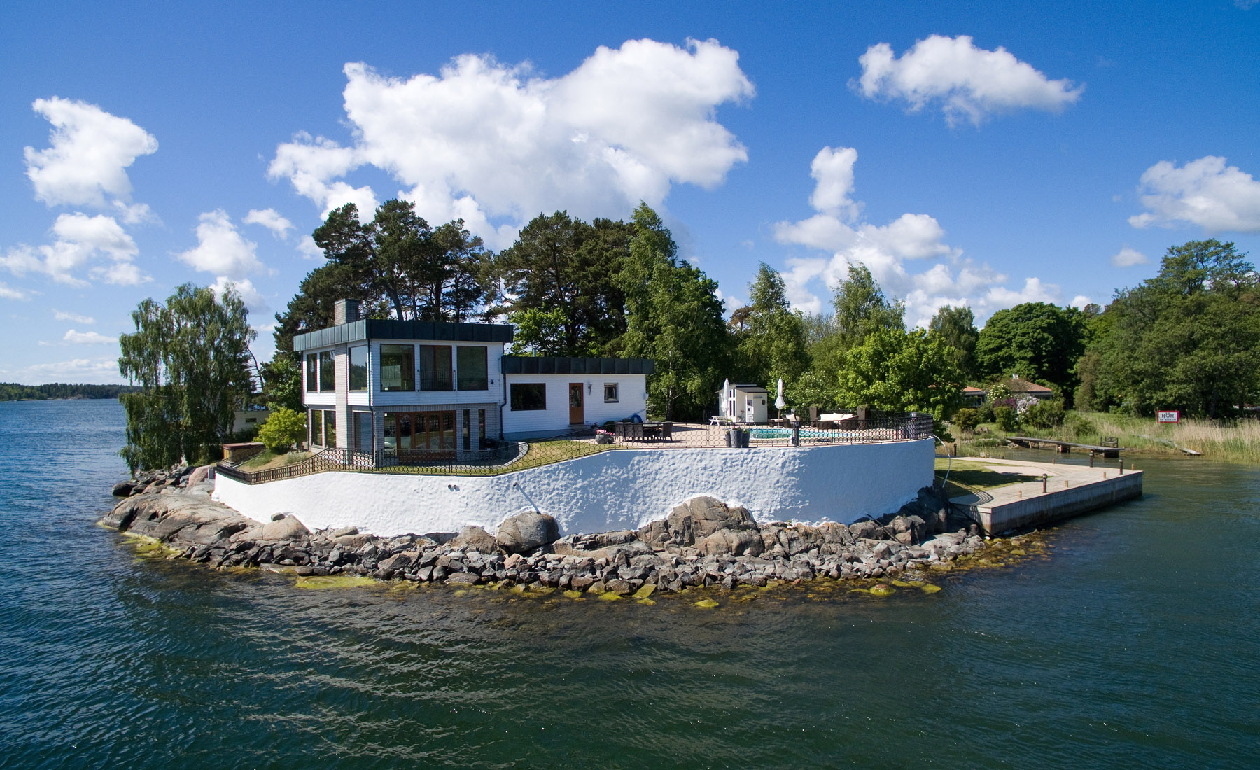 Single Family Home for Sale at Private island with a bridge Other Stockholm, Stockholm, Sweden