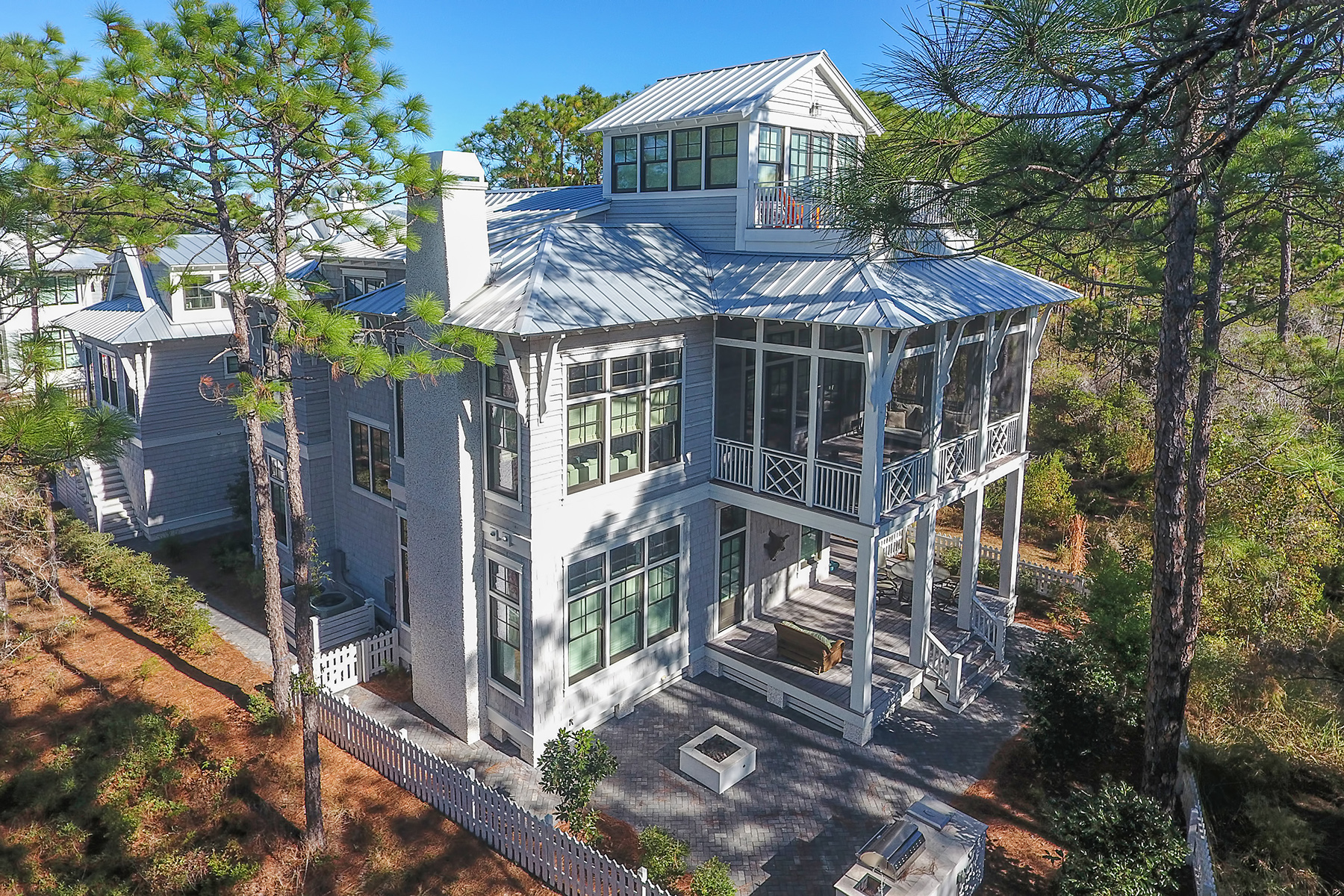 Single Family Home for Sale at ARCHITECTURALLY SIGNIFICANT WATERCOLOR LAKEFRONT RESIDENCE 45 Vermilion Way Santa Rosa Beach, Florida, 32459 United States