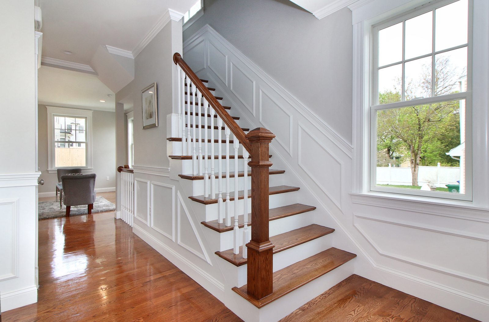 sales property at Stunning brand new two-family duplex home in the heart of Newton Upper Falls on