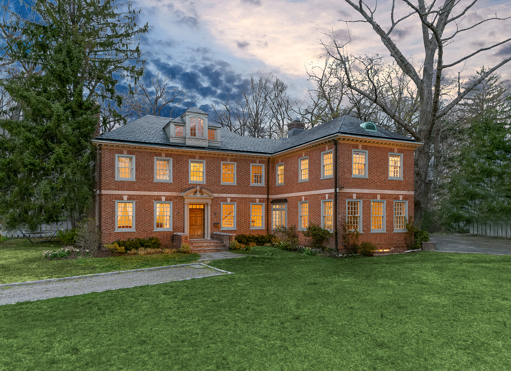 Single Family Home for Sale at Magnificent Georgian in Fieldston 4524 Greystone Avenue Riverdale, New York, 10471 United States