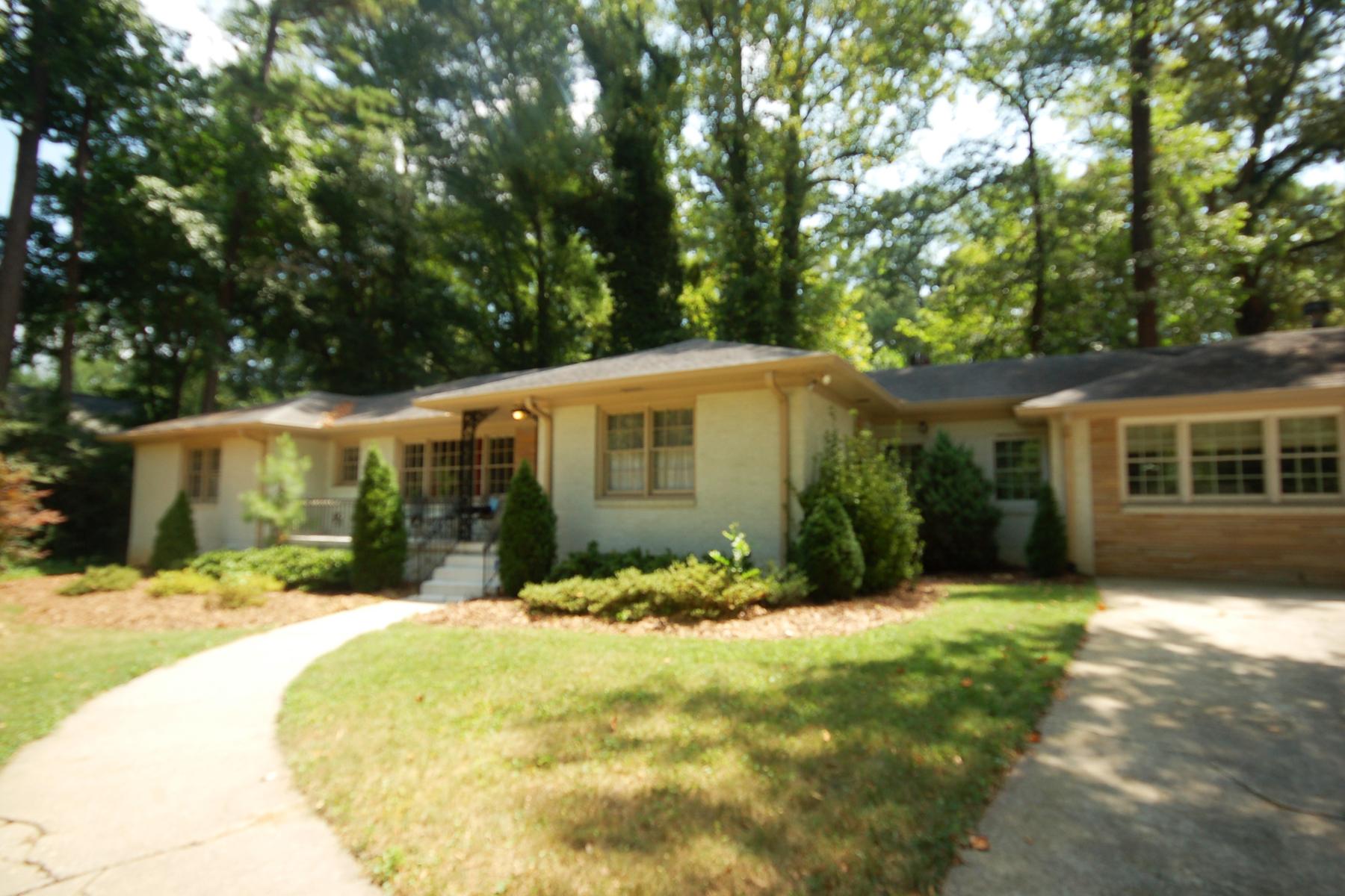 Single Family Home for Sale at Great Opportunity In Buckhead 3851 Wieuca Road Buckhead, Atlanta, Georgia, 30342 United States