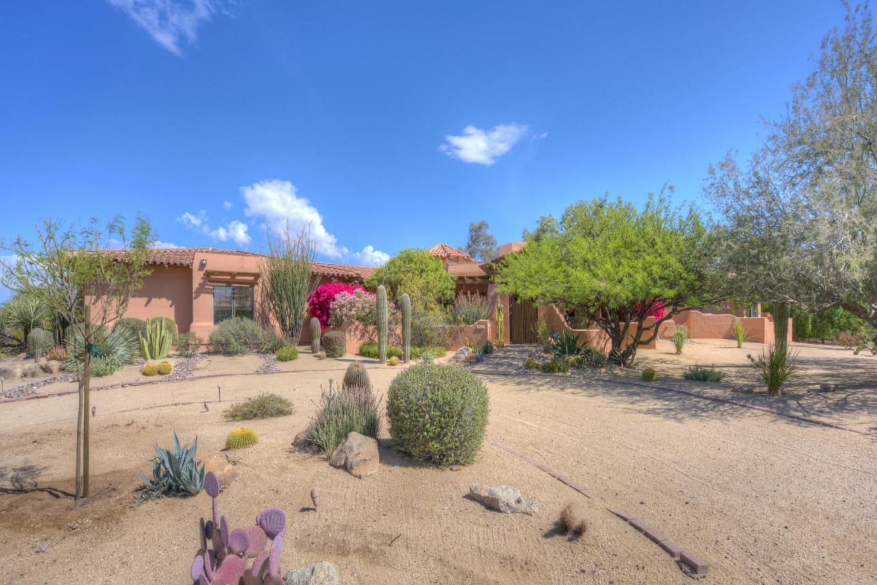 Частный односемейный дом для того Продажа на Romantic Courtyard Home with Mexican Influence in Pinnacle Peak Estates 24209 N 85th Street Scottsdale, Аризона, 85255 Соединенные Штаты
