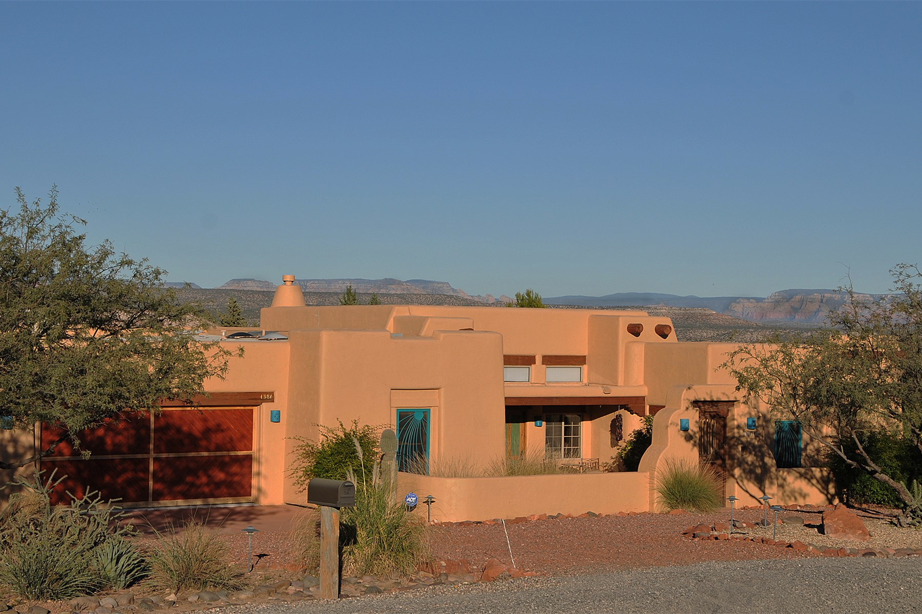 Property For Sale at Beautiful Santa Fe style custom home in desirable Clarkdale