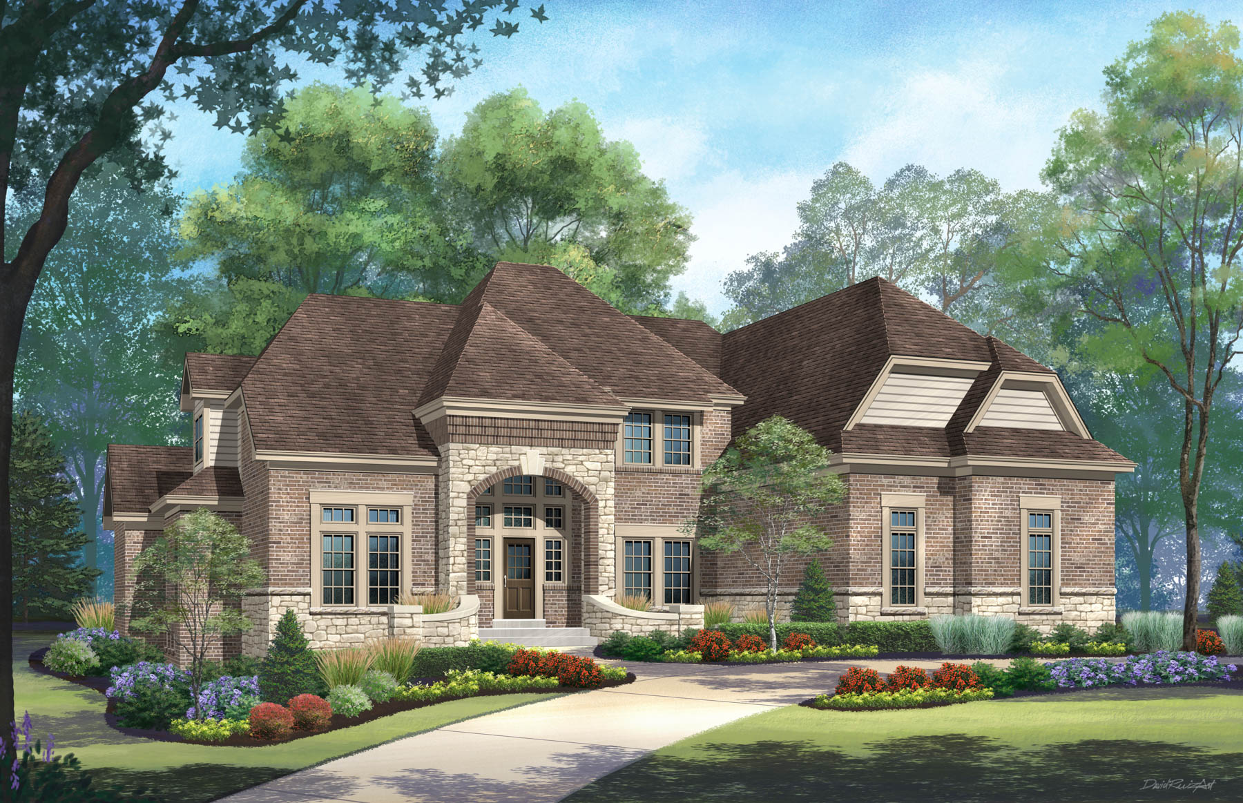 Casa Unifamiliar por un Venta en Sackston Woods 13 Sackston Woods Lane Creve Coeur, Missouri, 63141 Estados Unidos