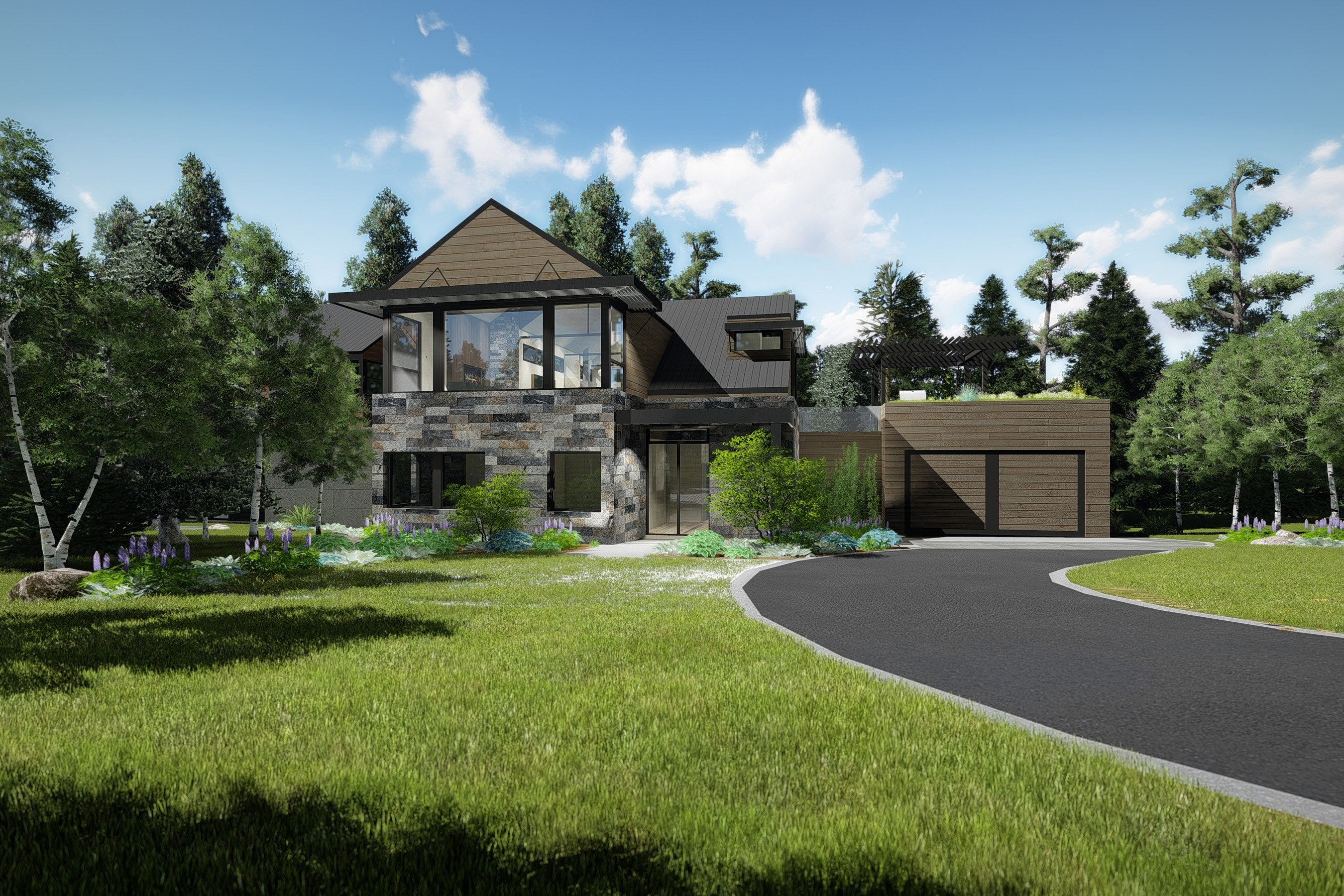 дуплекс для того Продажа на Brand New Residence in the West End 675 Meadows Road Aspen, Колорадо, 81611 Соединенные Штаты