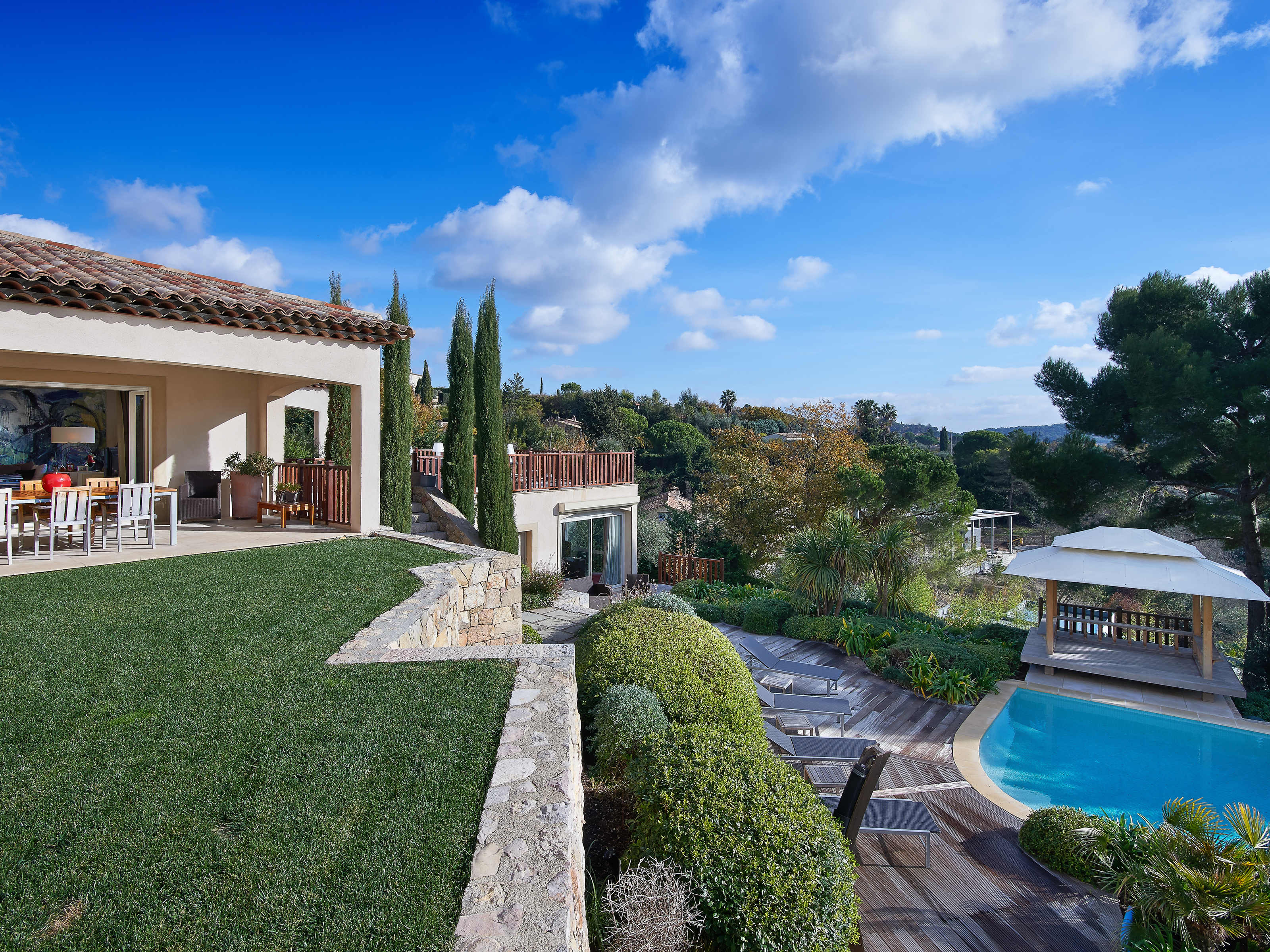 Single Family Home for Sale at Brand new modern villa with views over the village Mougins Mougins, Provence-Alpes-Cote D'Azur 06250 France