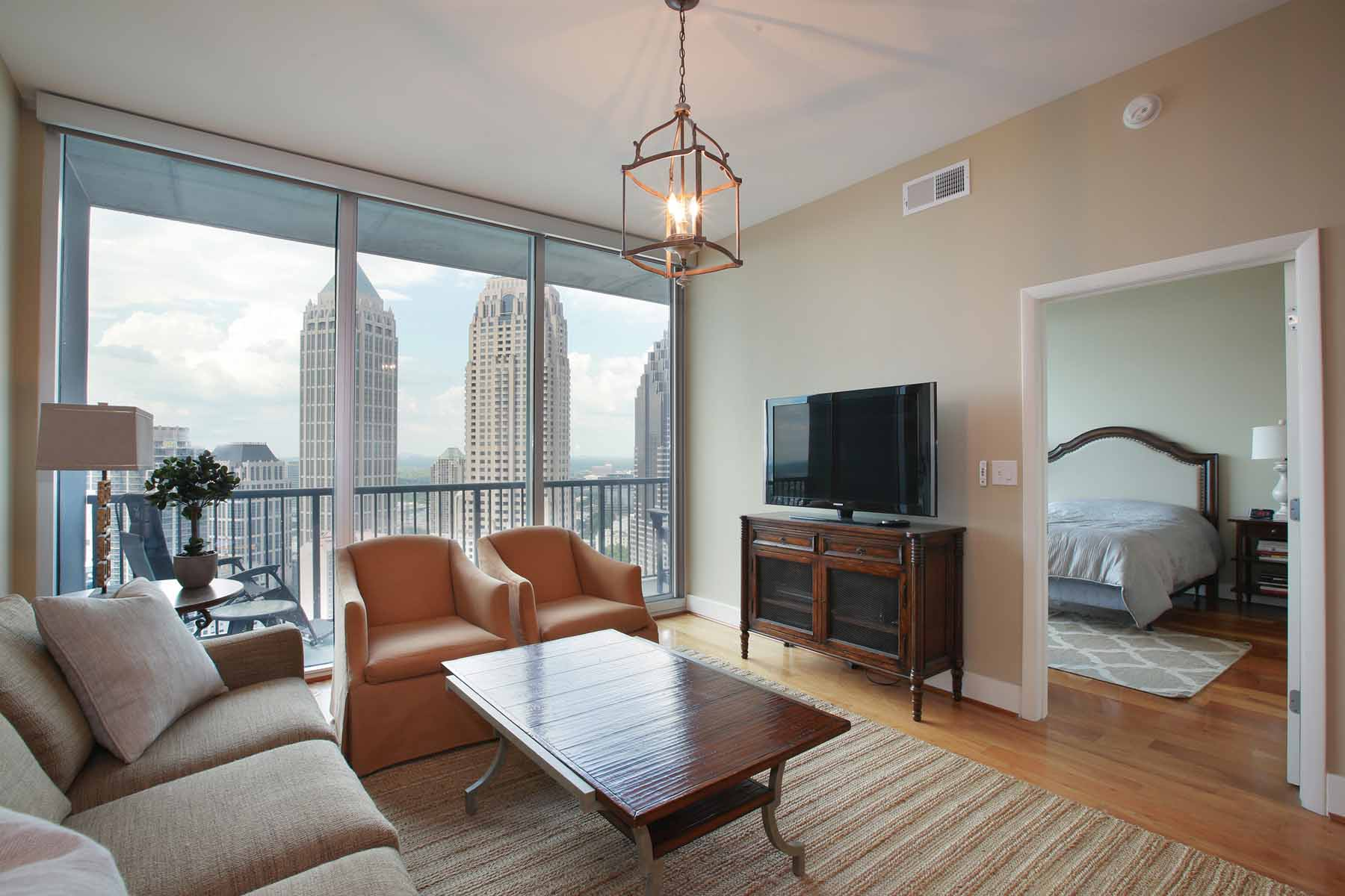 Condominium for Sale at High Floor Midtown Condo 1080 Peachtree Street NE #2701 Atlanta, Georgia, 30309 United States
