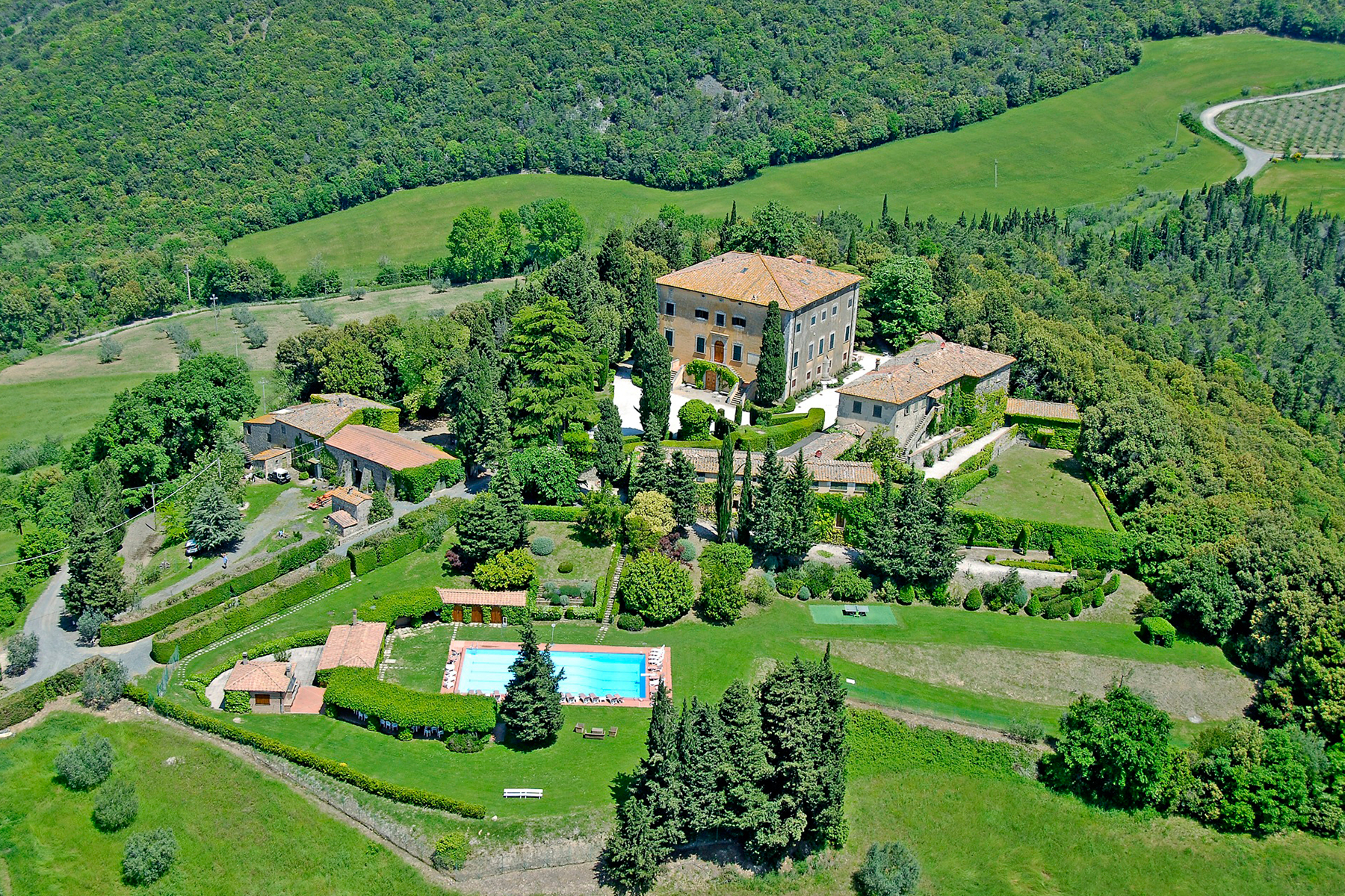 Single Family Home for Sale at Exquisite original and beautiful 17th century Villa Volterra, Pisa Italy