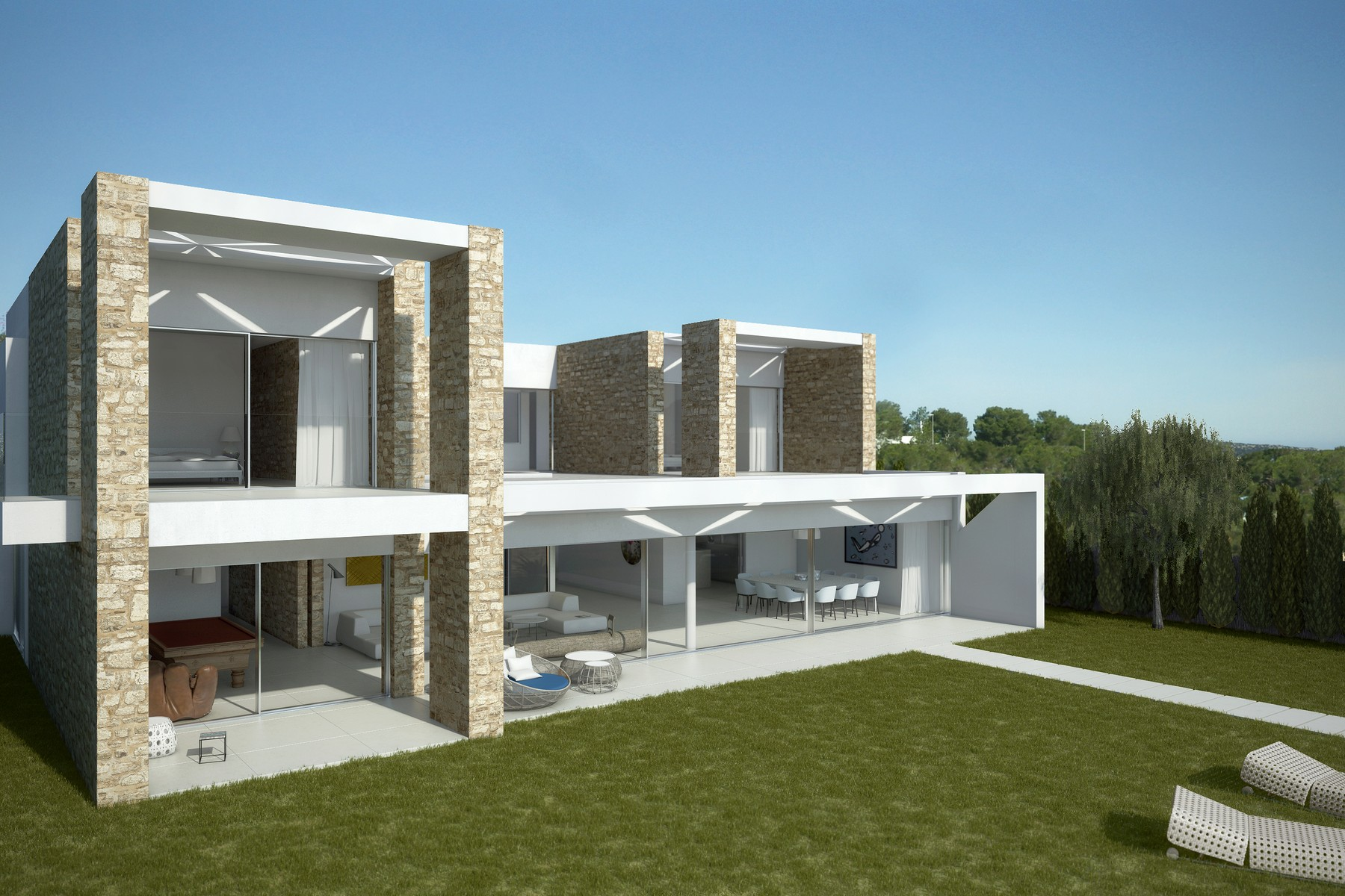 Property Of 位于高级小区的新建住宅楼群