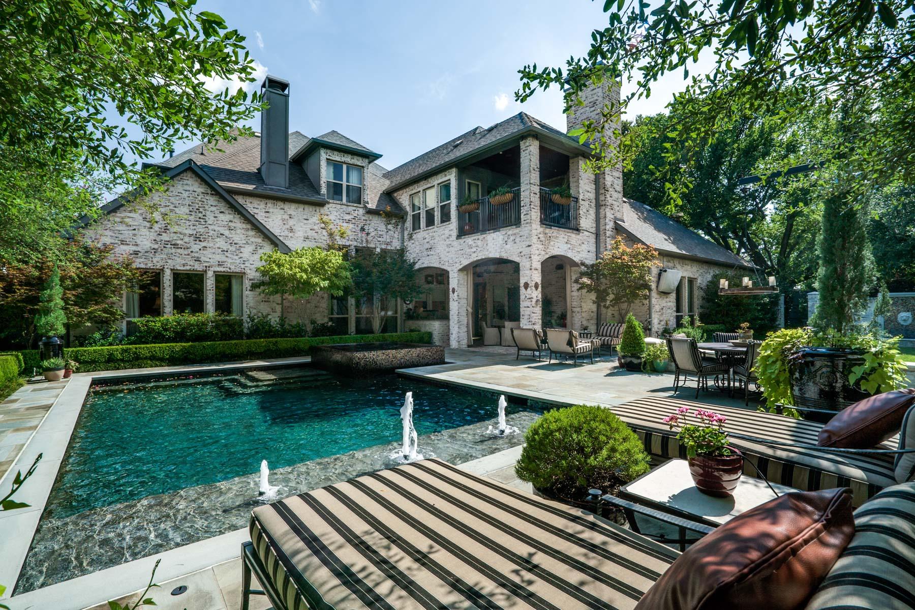 独户住宅 为 销售 在 Exquisite Detail in Preston Hollow 5757 Preston Haven Drive 达拉斯, 得克萨斯州, 75230 美国