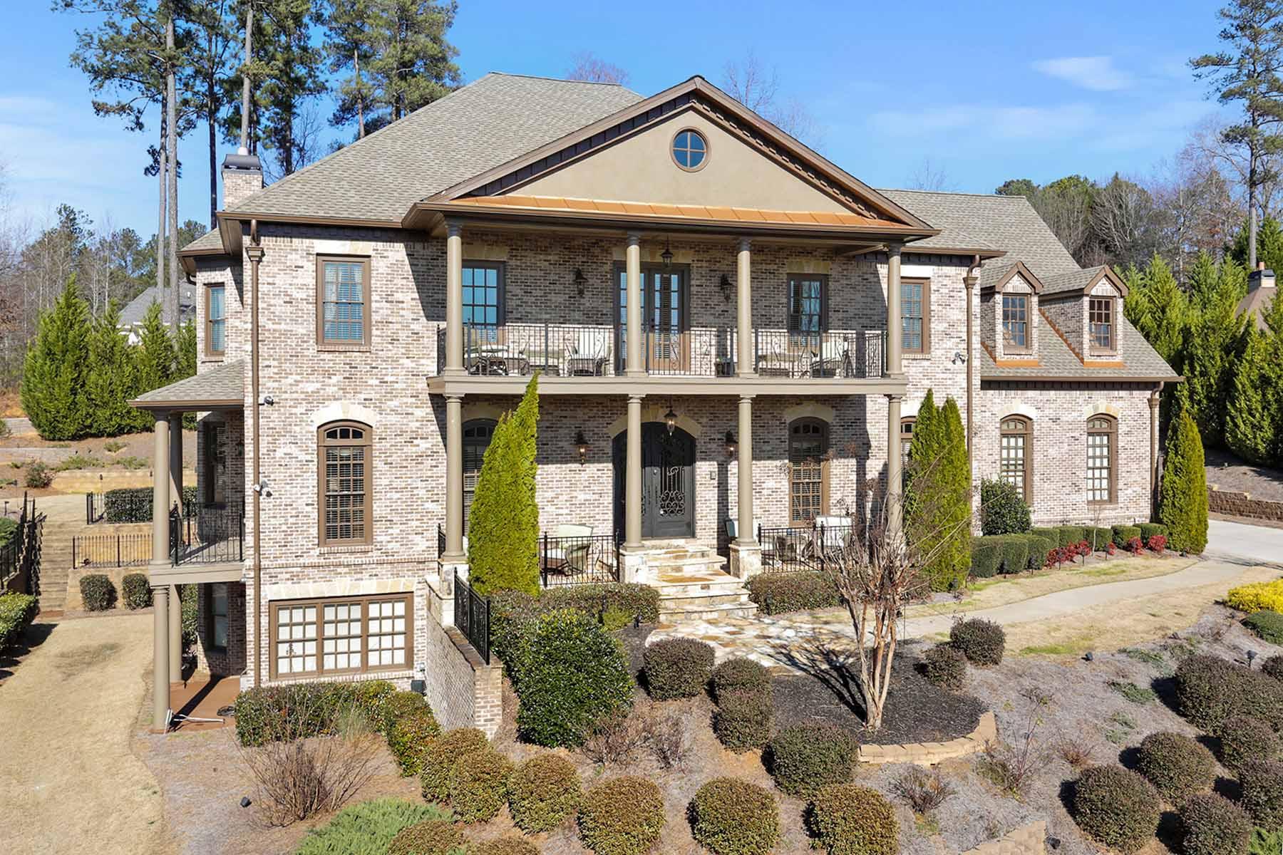 Частный односемейный дом для того Продажа на An Extraordinary Home for a Car Enthusiast 15810 Manor Trace Alpharetta, Джорджия 30004 Соединенные Штаты